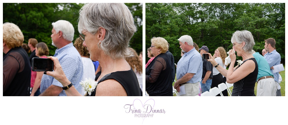 Meanwhile, my second photographer captured the emotions of the wedding guests and family as they watched the ceremony. Pictured is the reaction of the mother of the bride.