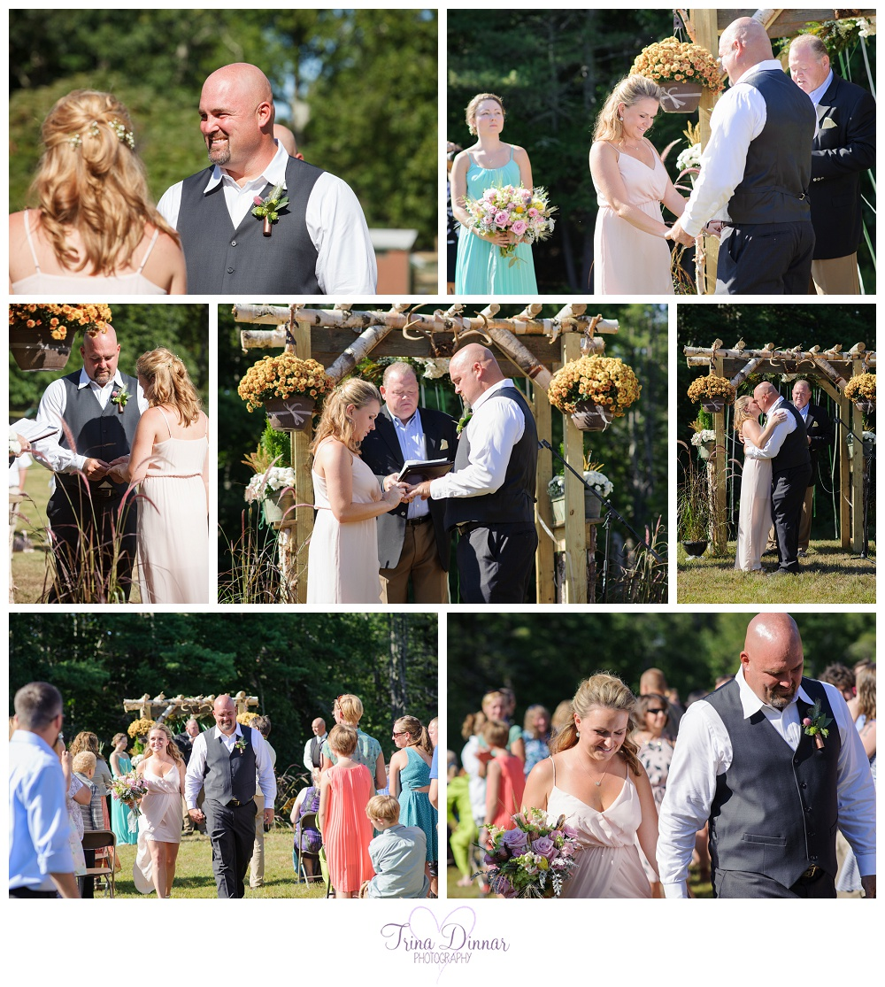Backyard Maine Wedding Ceremony