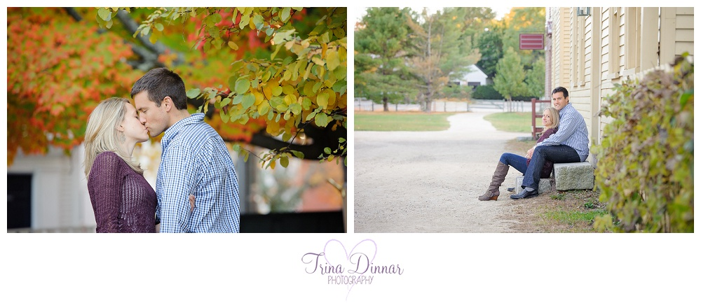 Wedding Photographers in Southern Maine - Fall Engagement Portraits