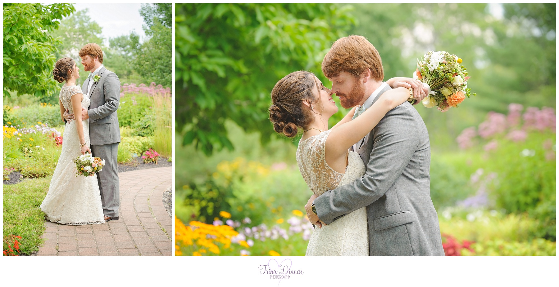 Pineland Farms weddings by Trina Dinnar Photography