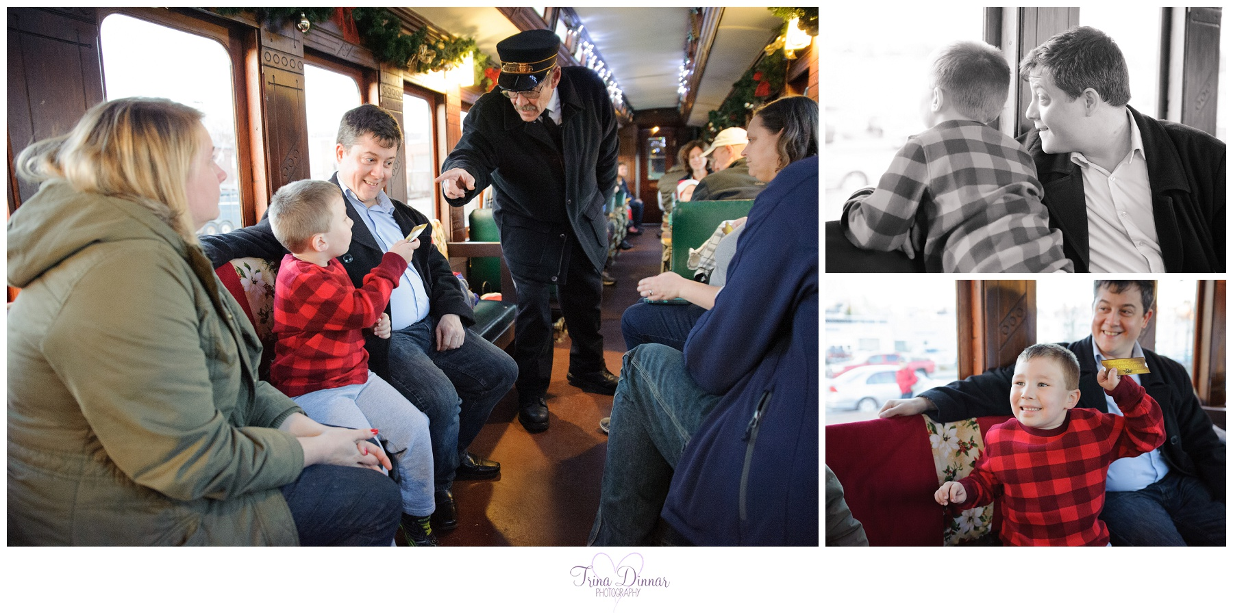 Photos from the Polar Express train ride in Portland, Maine