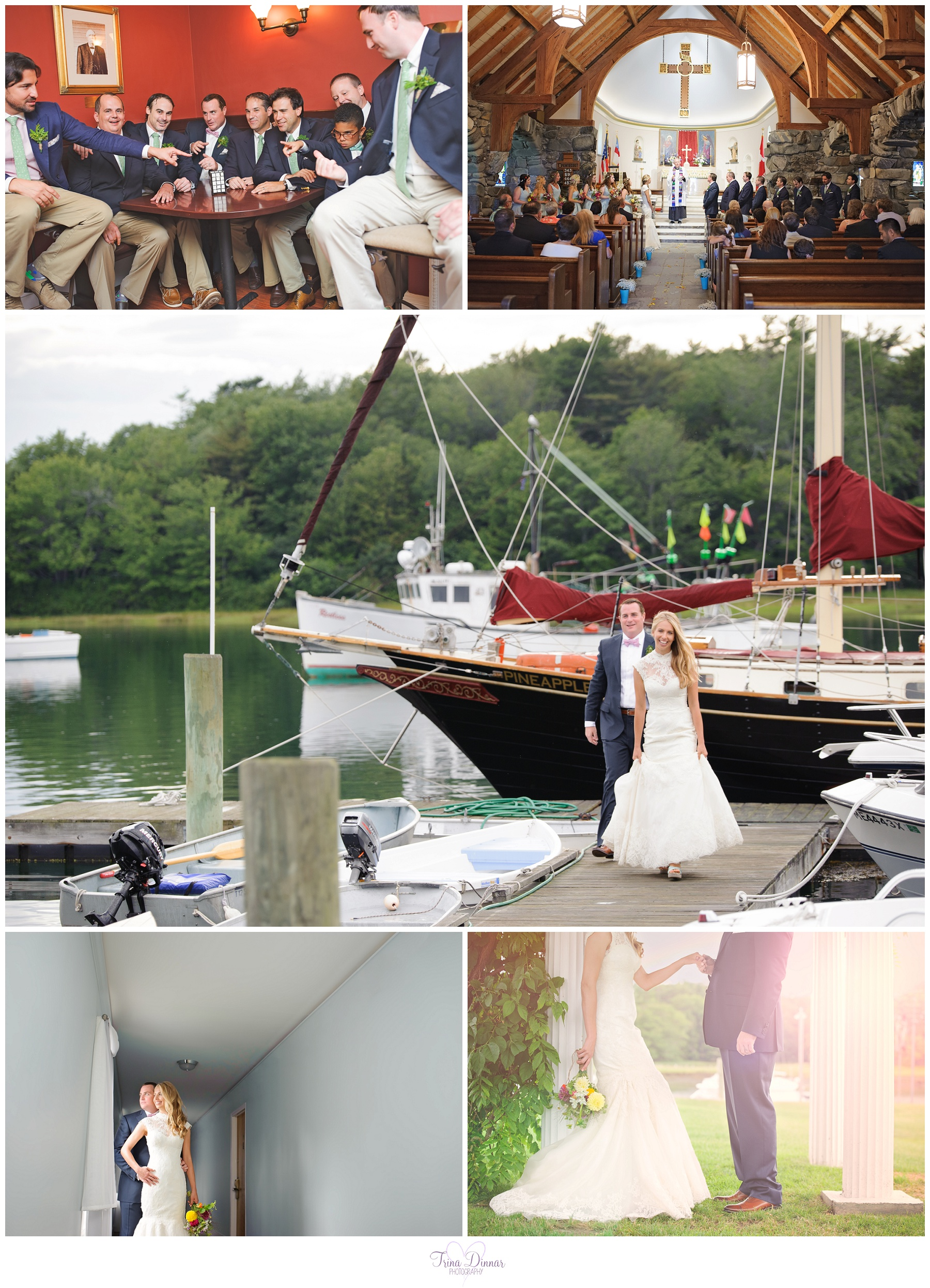 Wedding photography at the Nonantum resort in Kennebunkport, Maine