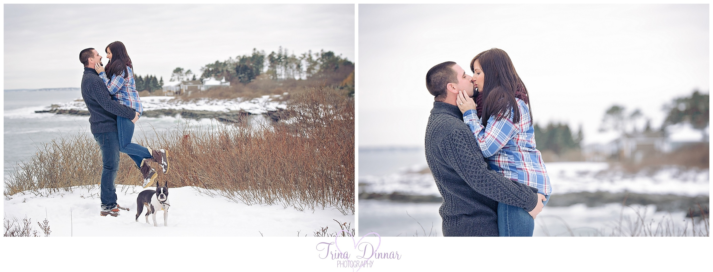 Engagement photography on the Coast of Maine.