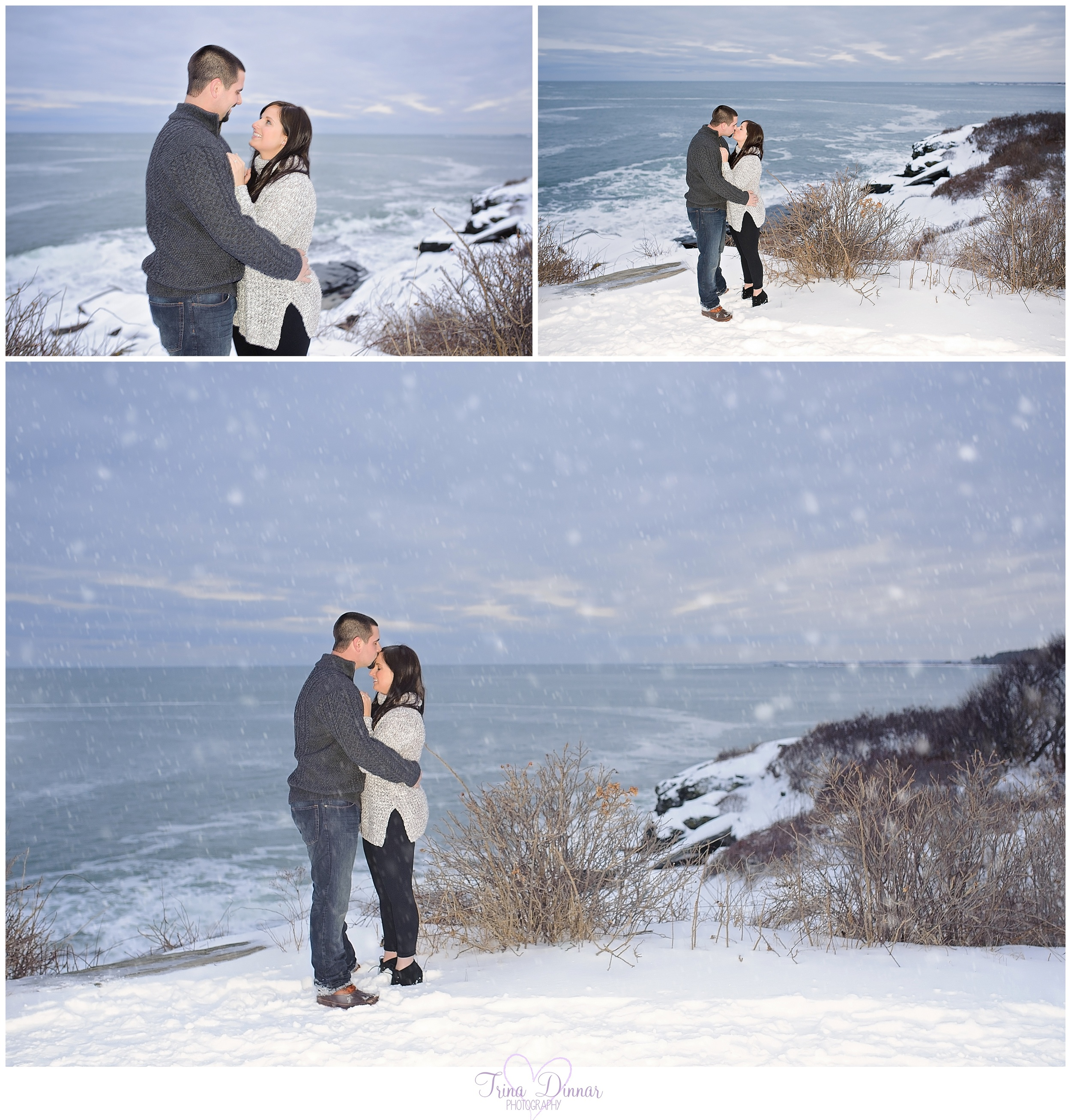 Beach Engagement Photography in Maine