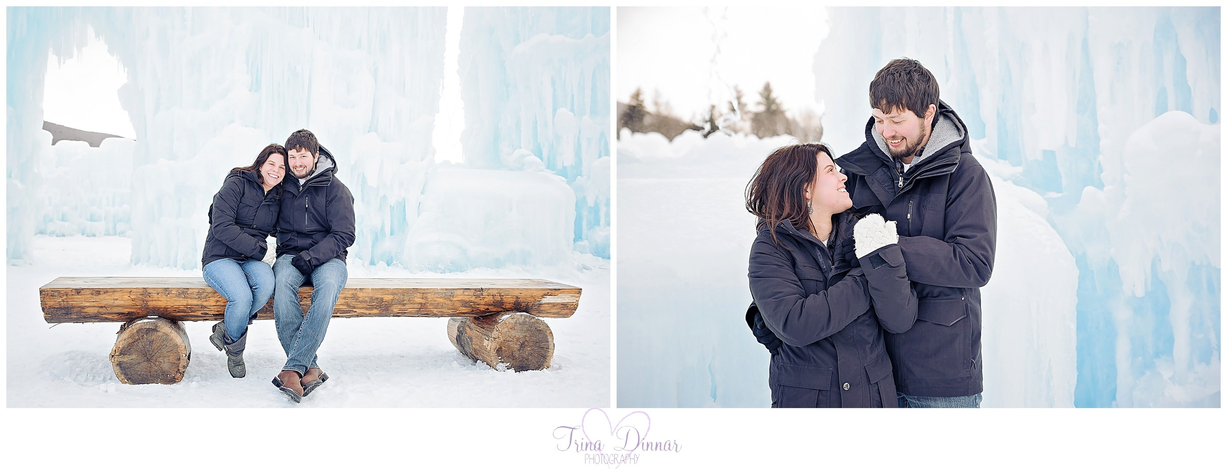 Ice castles adventure with couple in 2016.