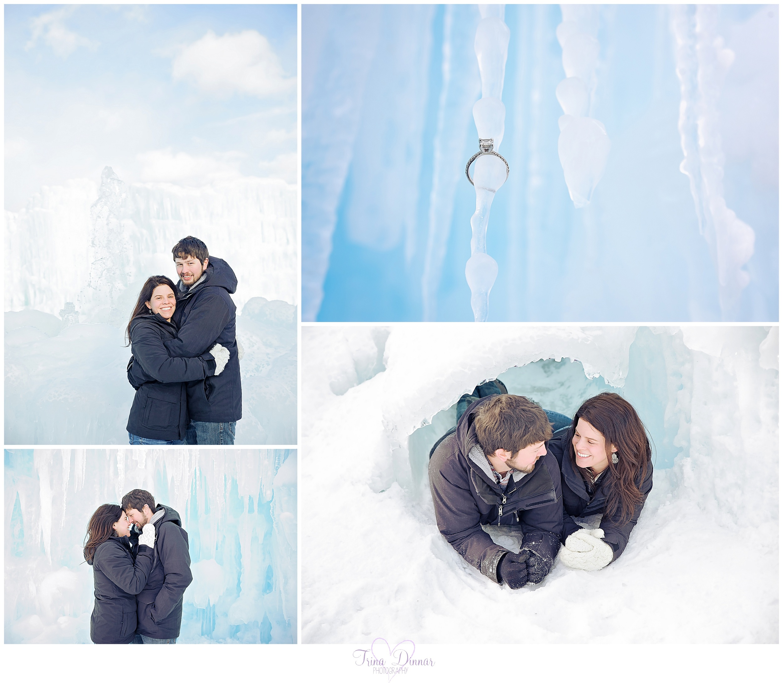 Engagement photography winter ideas.