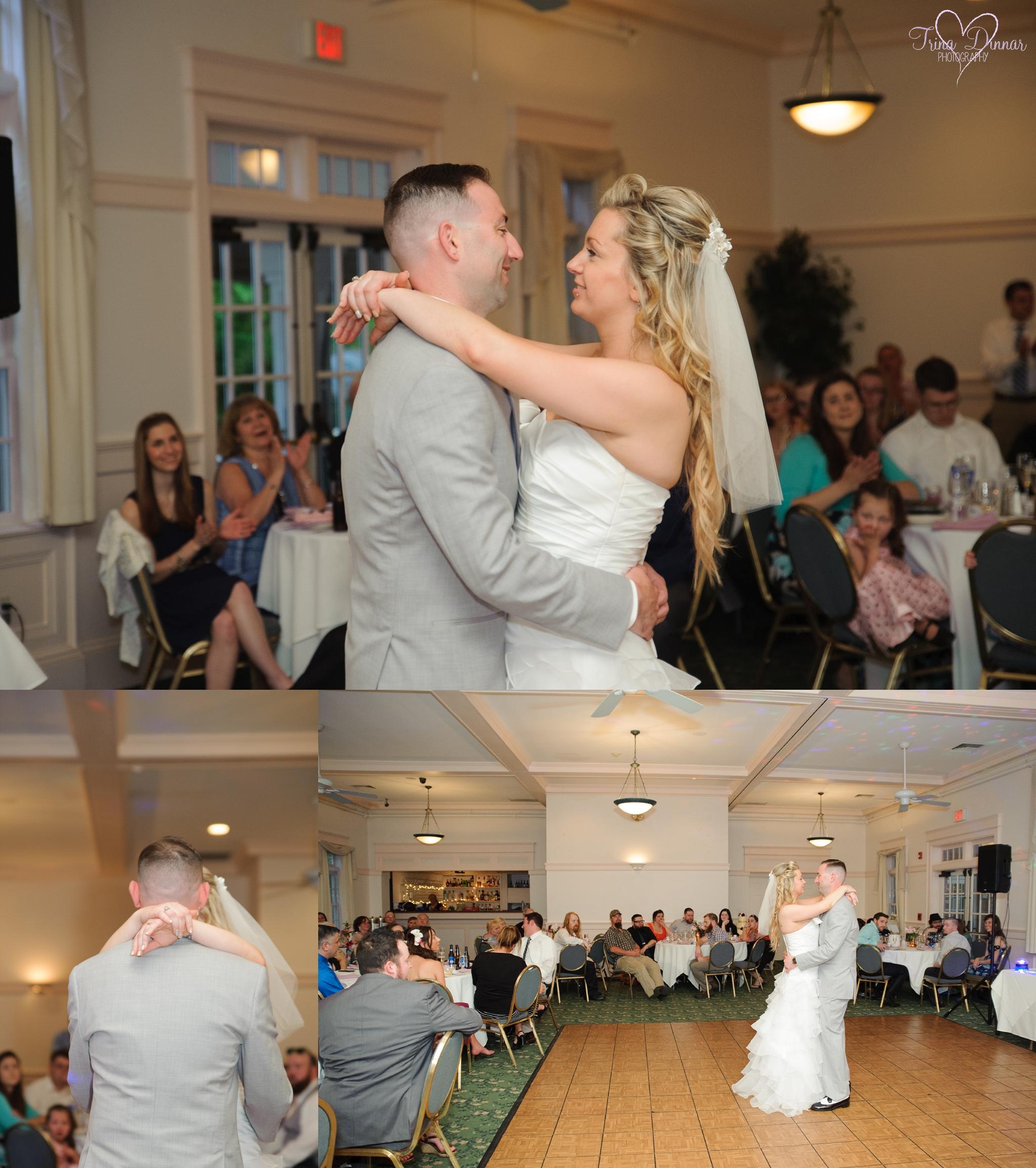 Wedding reception Governor's Inn NH first dance