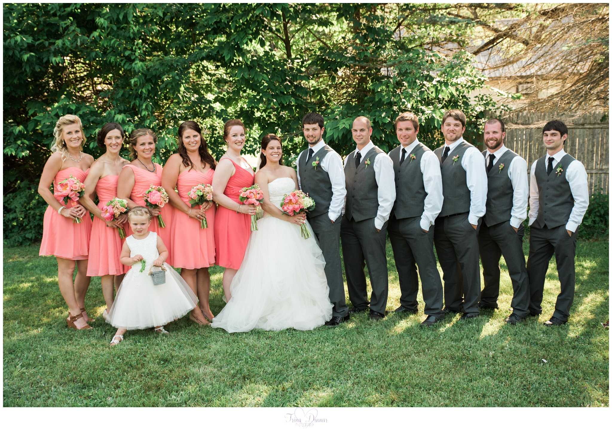 Maine Wedding Bridal Party Portrait Photography
