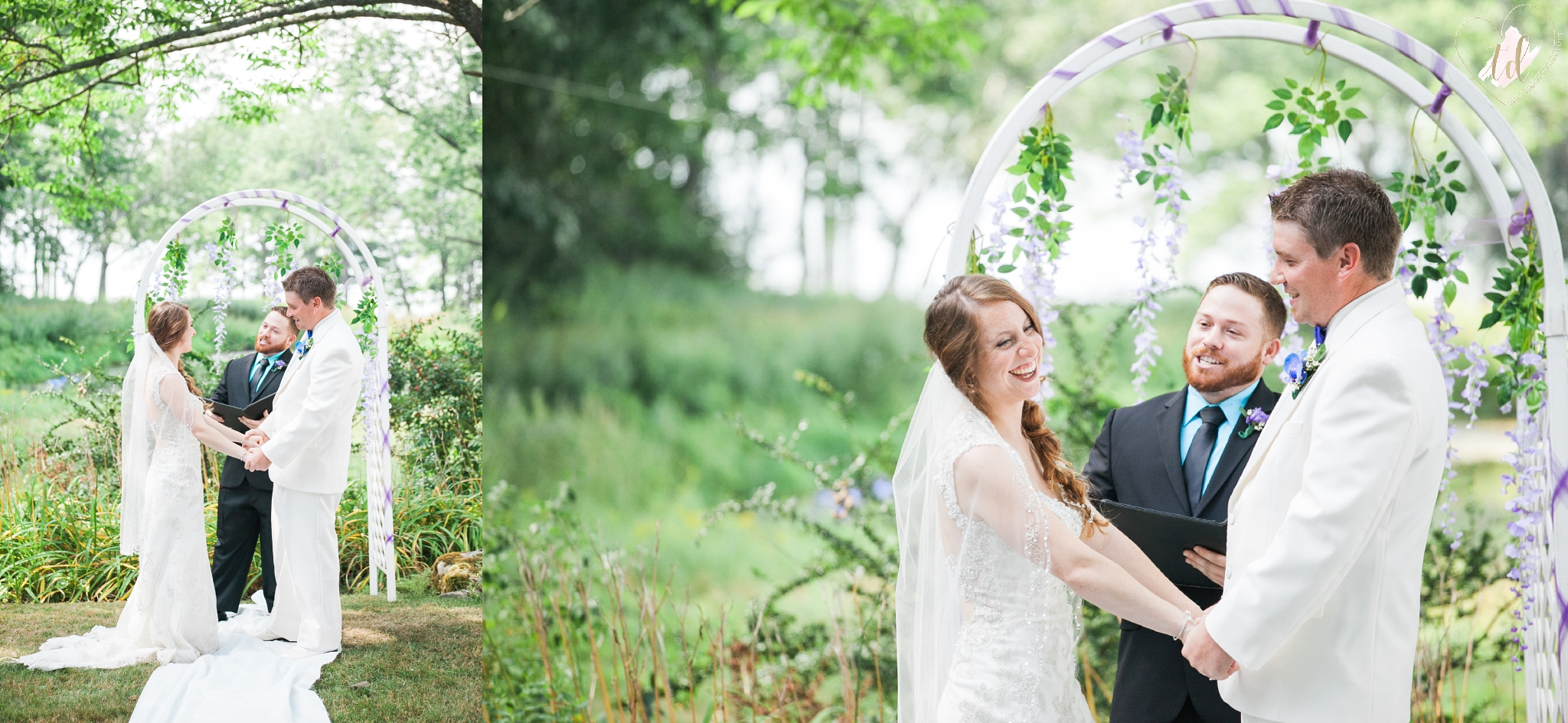Maine Wedding Photographers capture private ceremony in Brunswick.