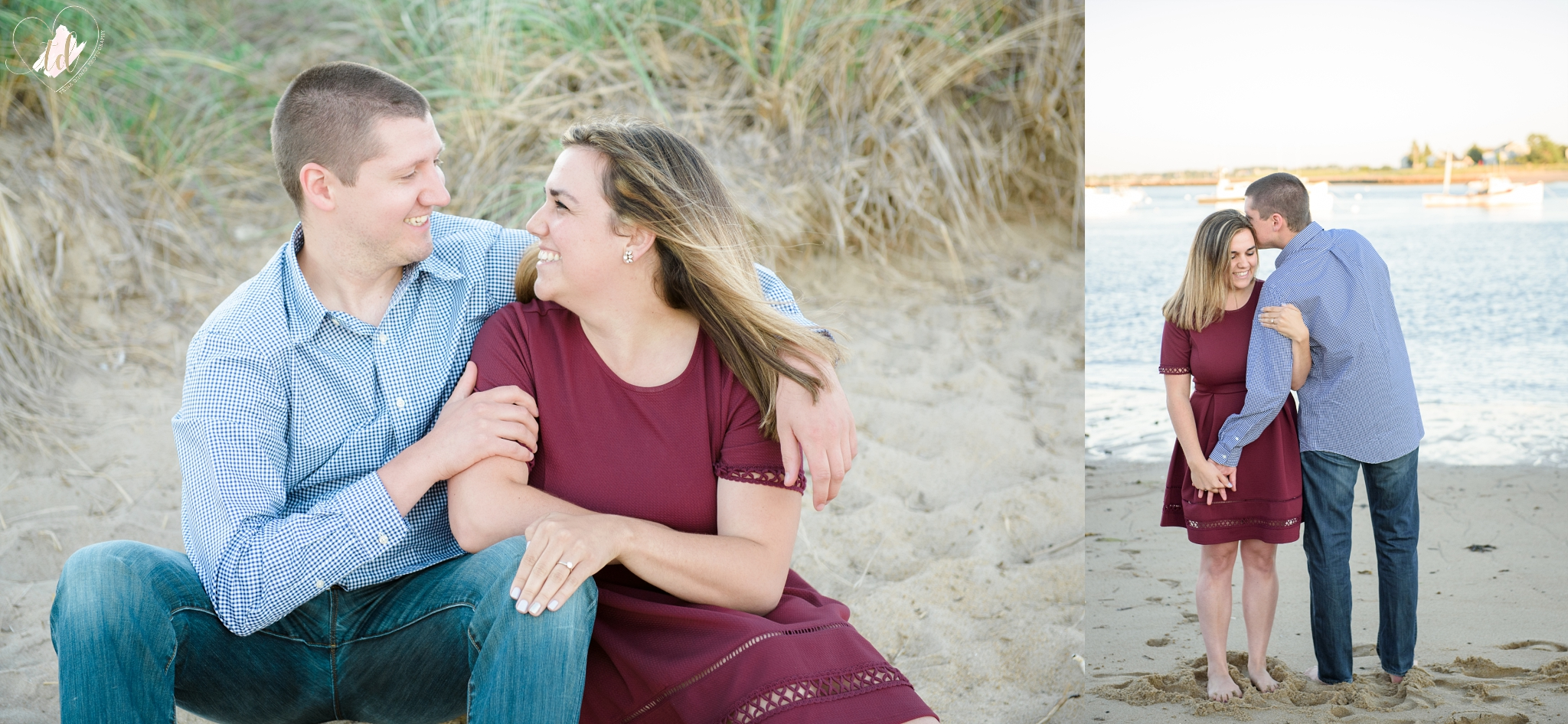 Saco, Maine beach engagement session.