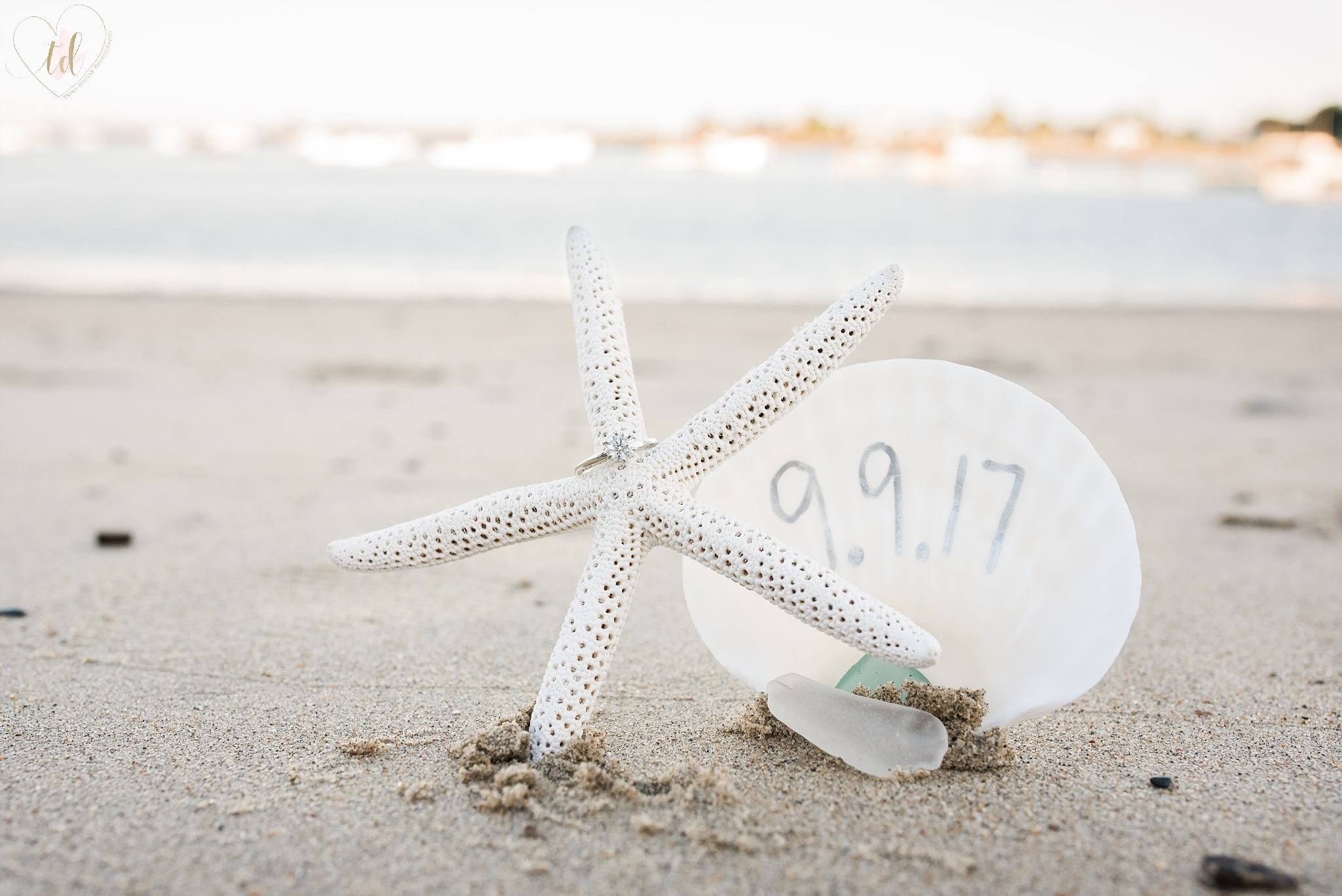 Engagement Session Save the Date at Southern Maine beach.