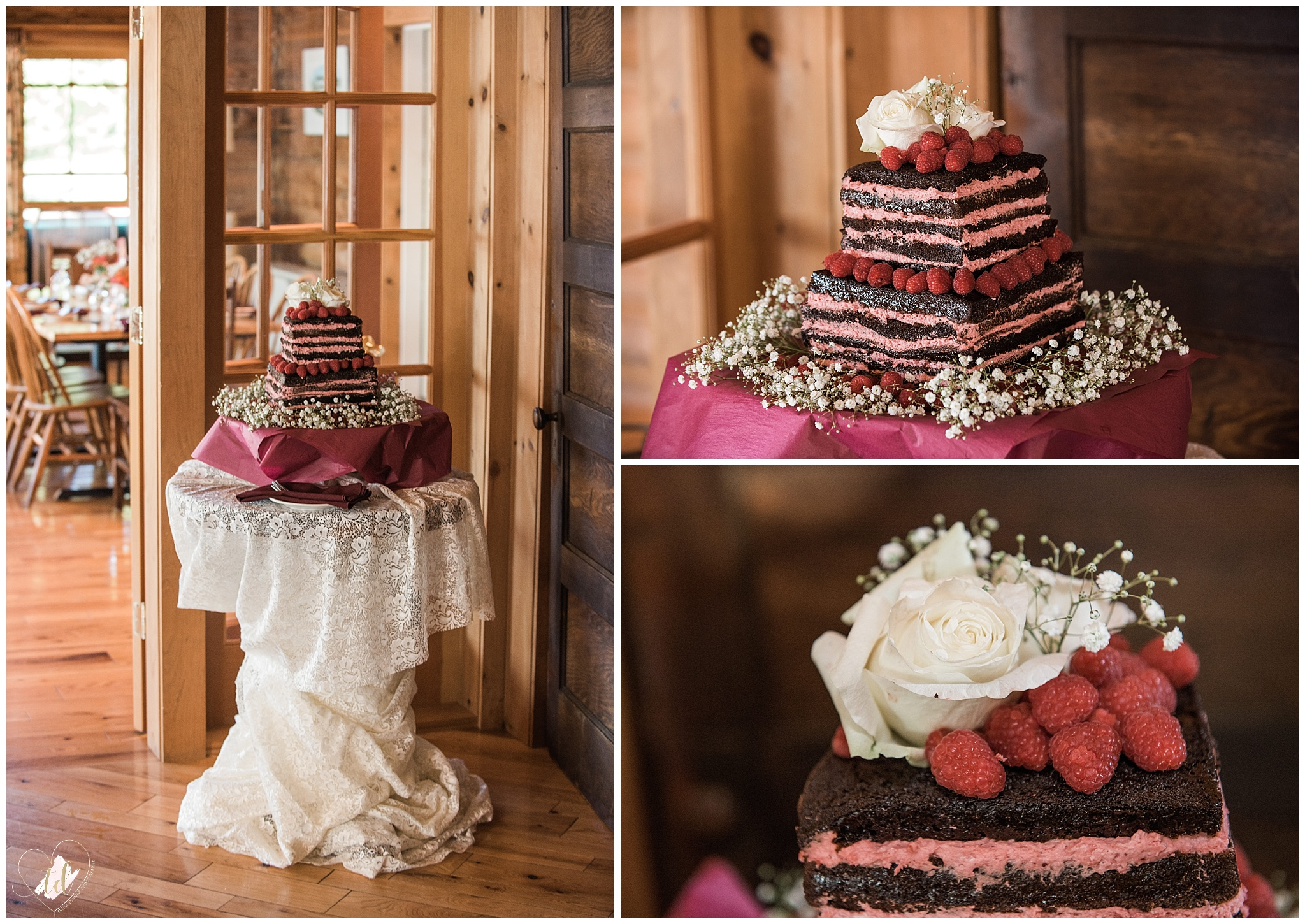 Maine Wedding Cake at Bald Mountain Camps Resort