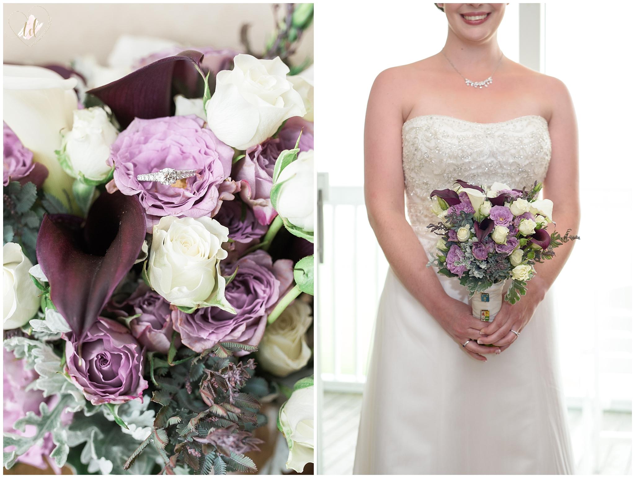 Wedding Bouquet by Rockport Maine Florist Hoboken Gardens.