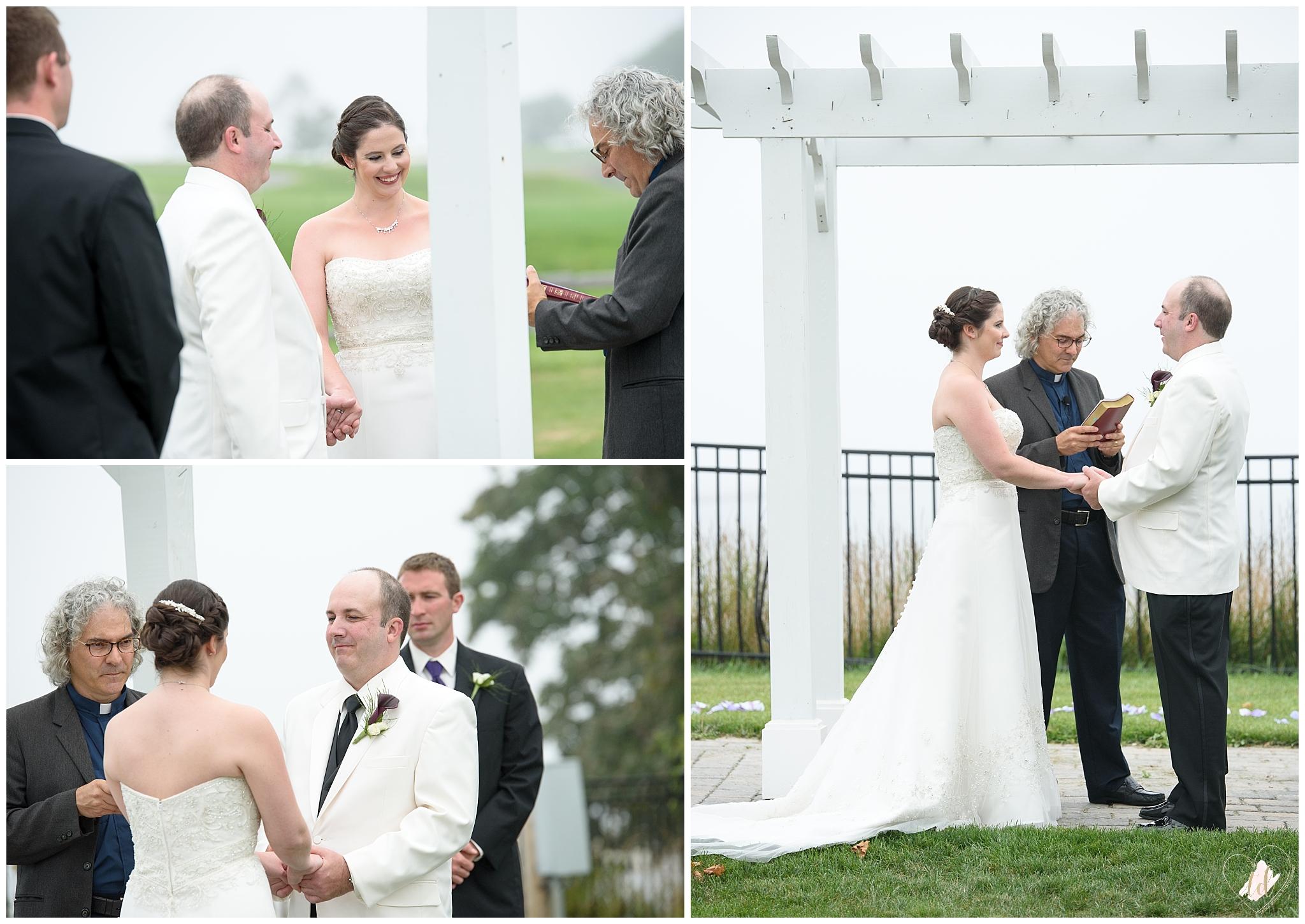 Wedding ceremony at the Samoset Resort in Rockport, Maine