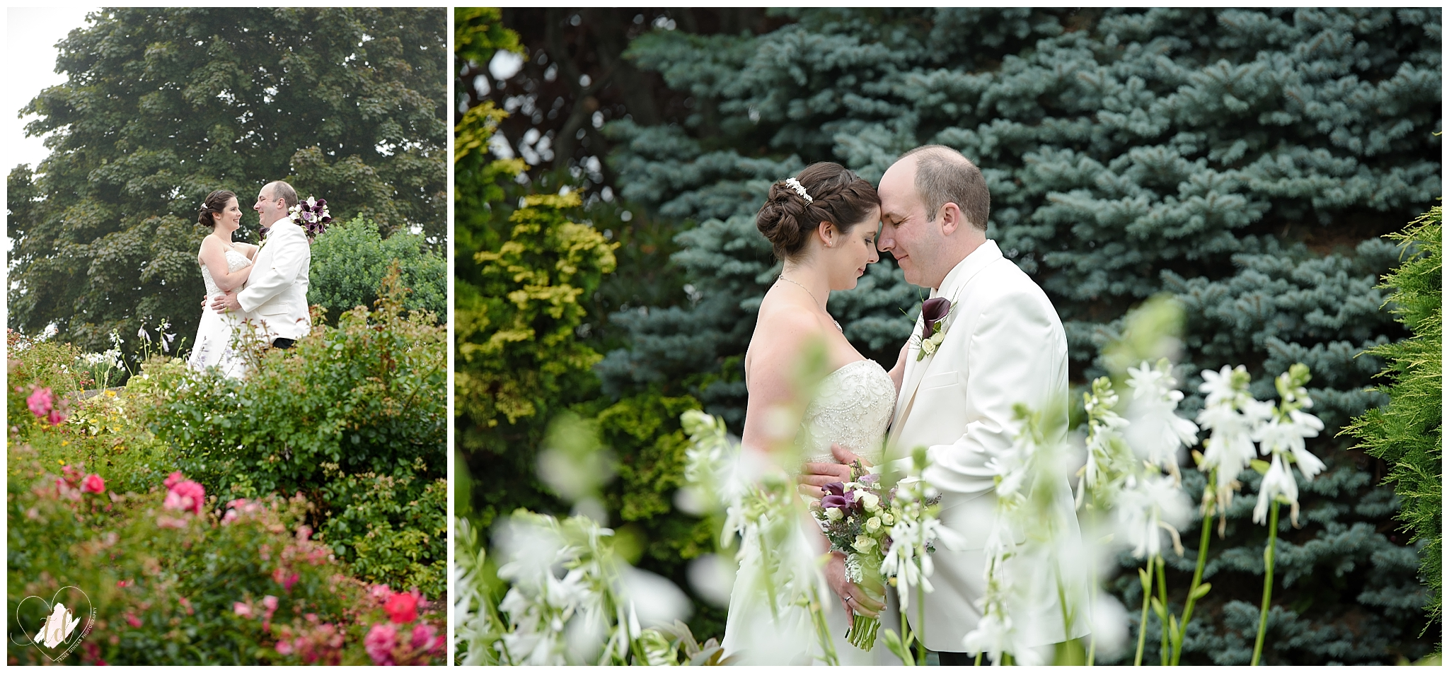 Bride and Groom portraits at the Samoset Resort after their Rockport, Maine wedding.