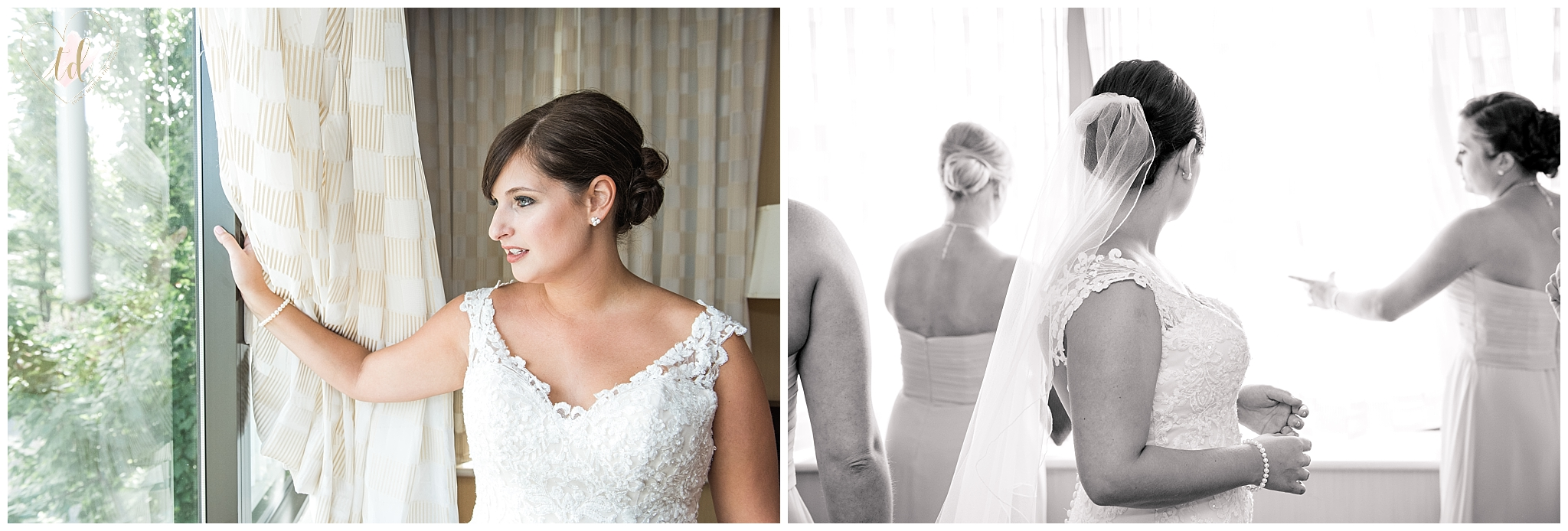 Bridal photography captured by Southern Maine wedding photographer, Trina Dinnar.