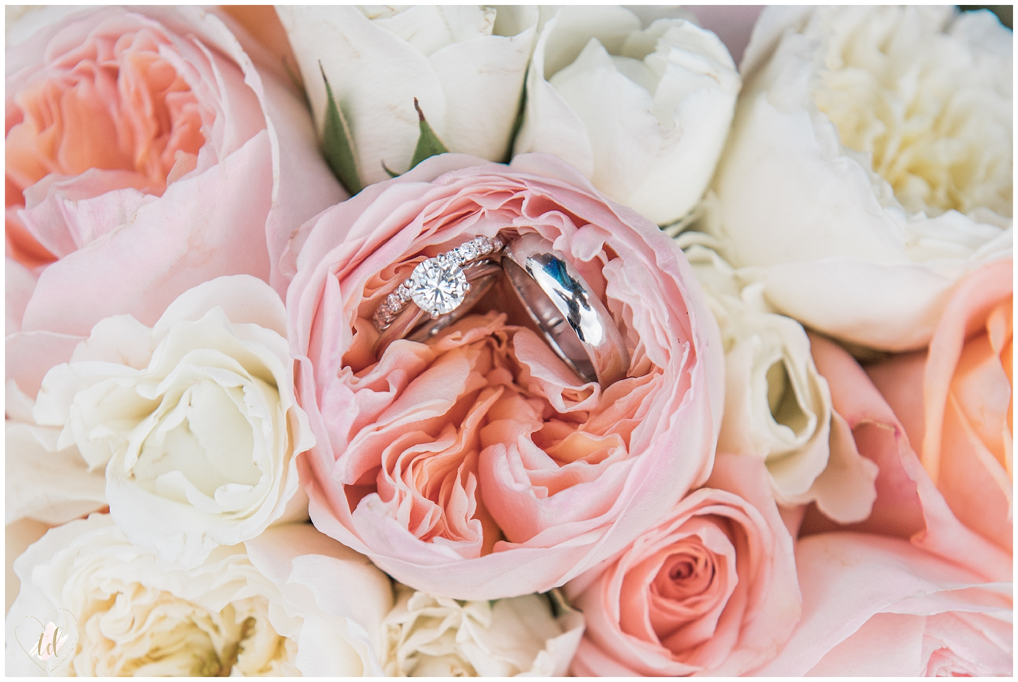 Wedding Flowers with Wedding Rings