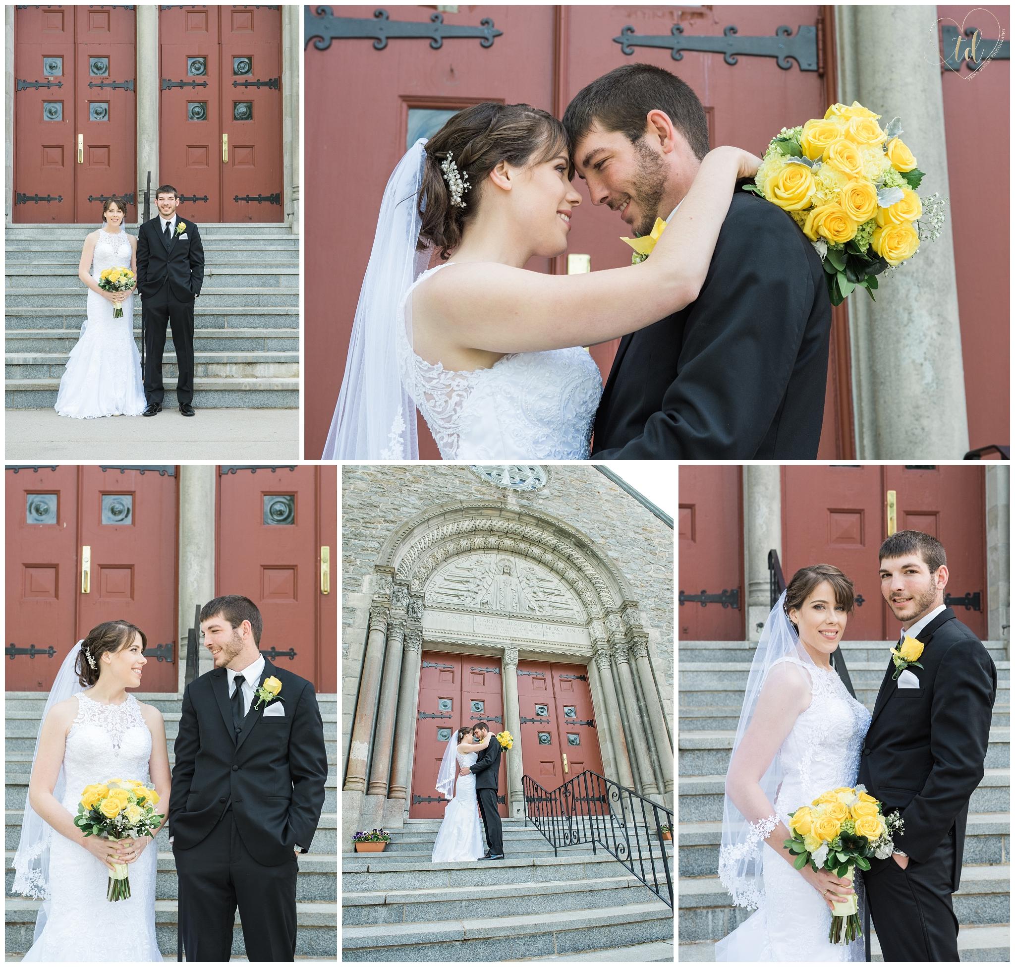 Yarmouth Maine Wedding at the Sacred Heart Church