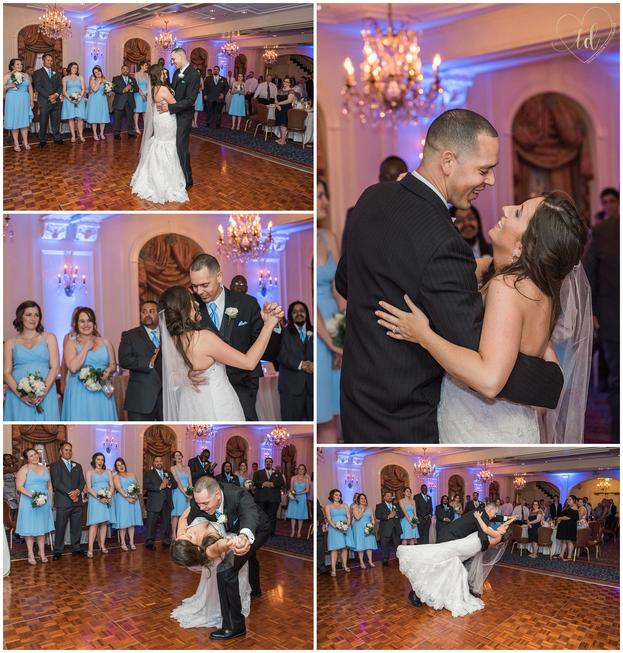 Couple shares First Dance at their Wedding in the Wentworth Ballroom