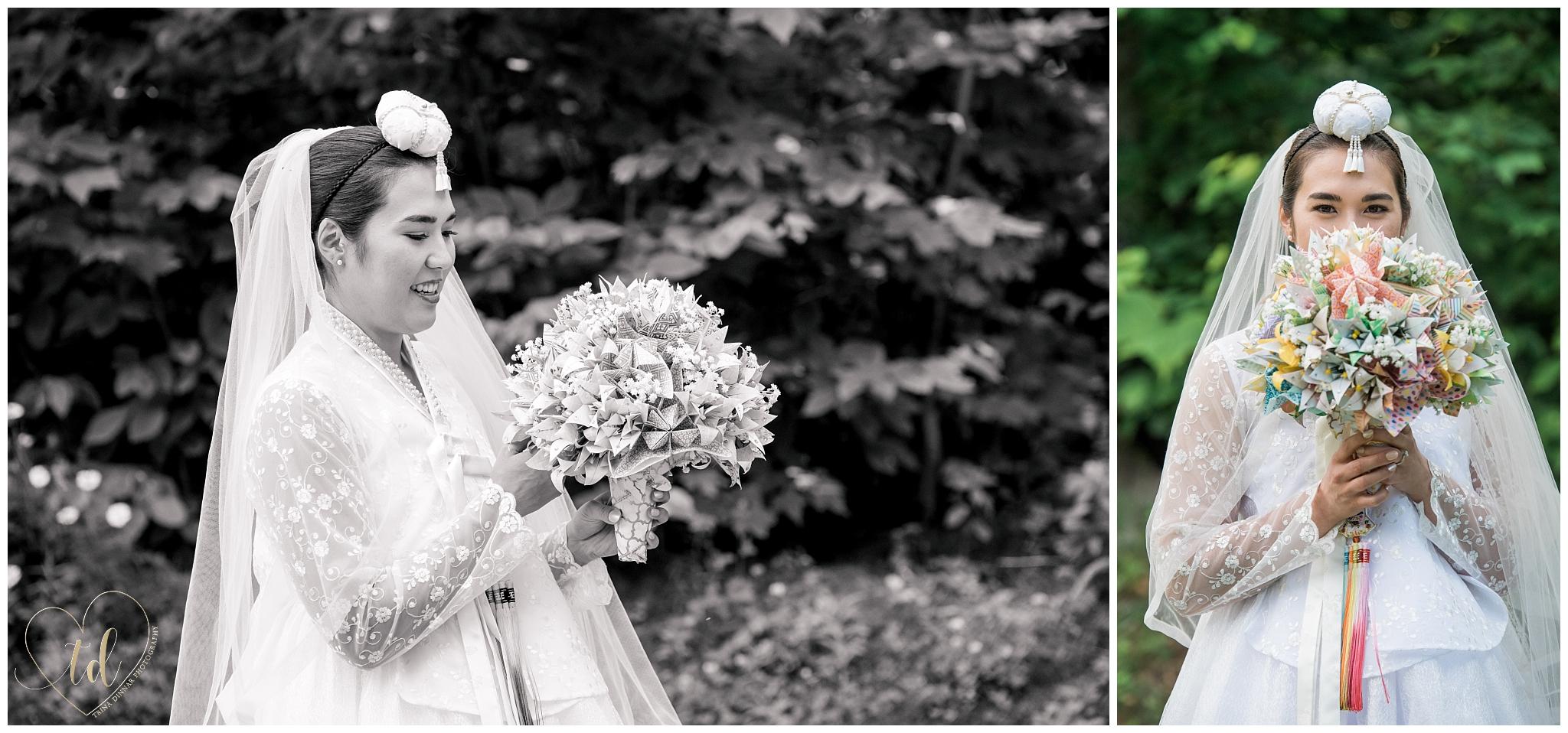 Korean American Bridal Portrait Photography in Maine.