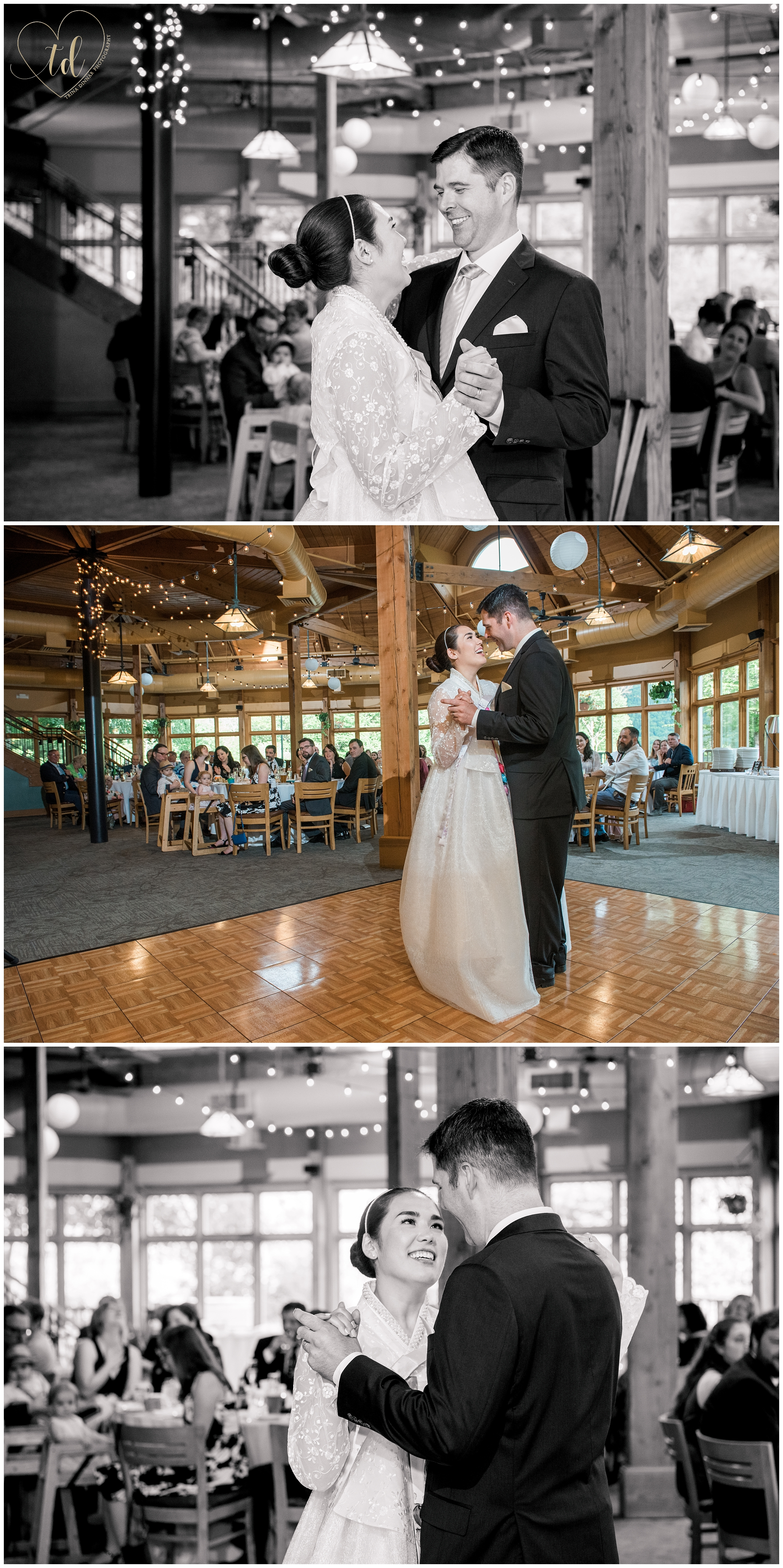 Wedding reception at Sliders Restaurant at Sunday River in Newry, ME.