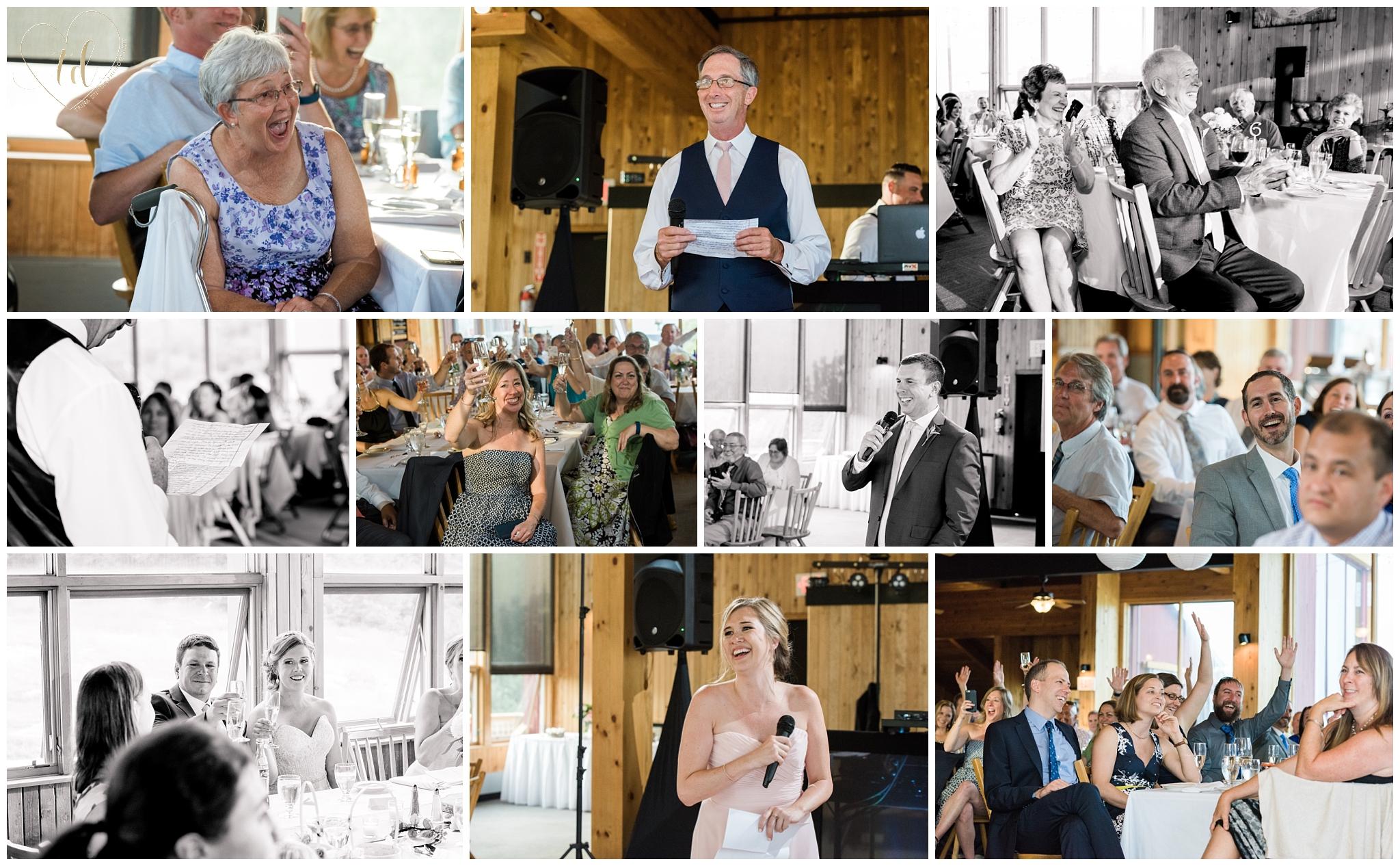 Wedding reception at peak lodge