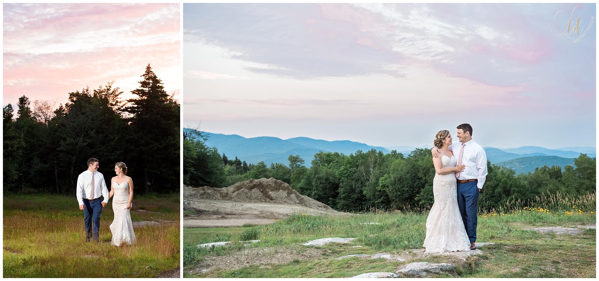 Sunday River Peak Lodge Wedding Portraits