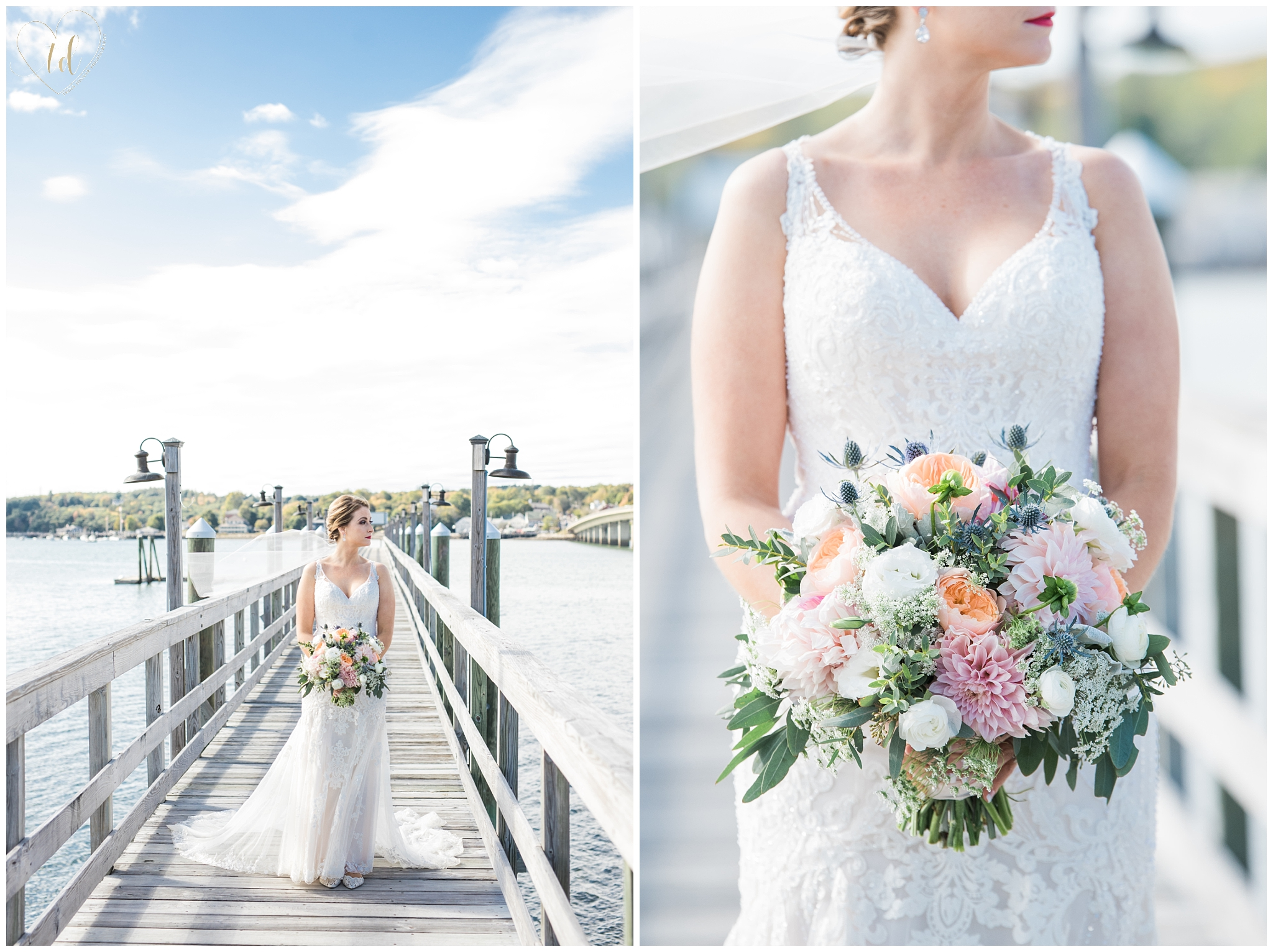 Maine Bridal Portrait Photography at Water's Edge