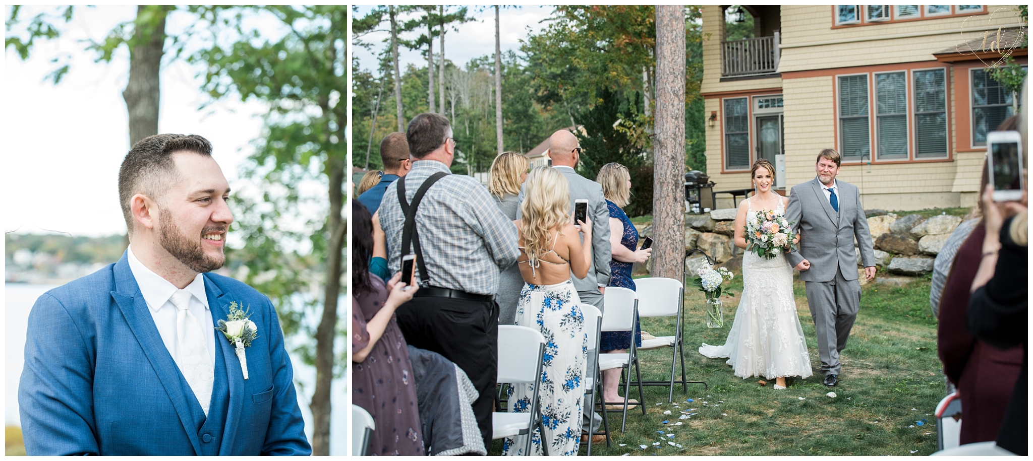 Sheepscot Harbour Wedding Ceremony