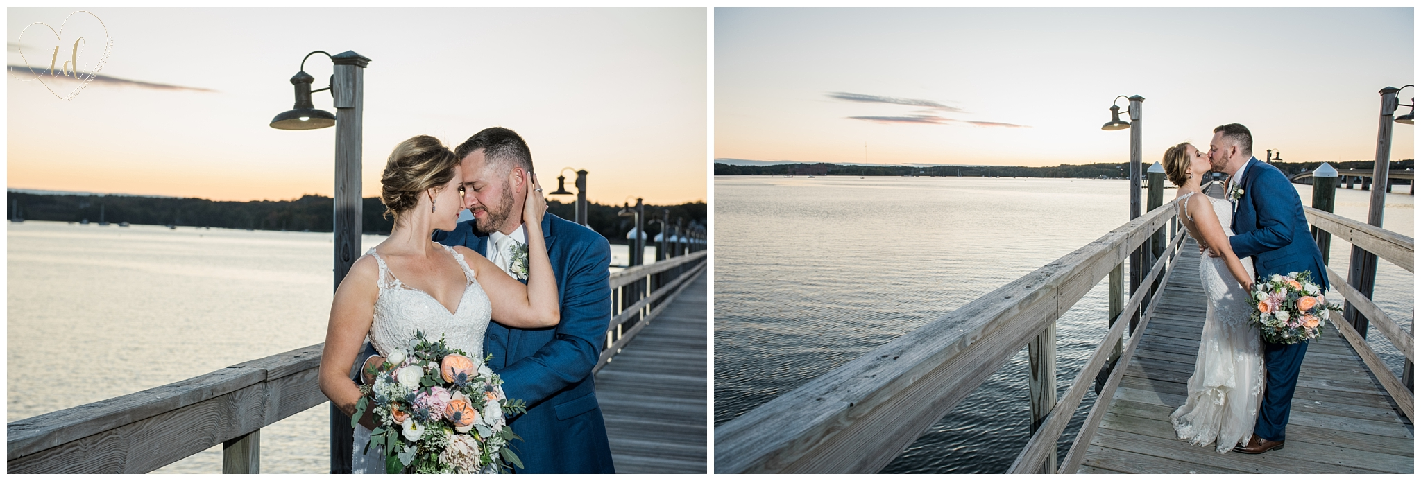 Sheepscot Harbour Water's Edge Wedding Photography