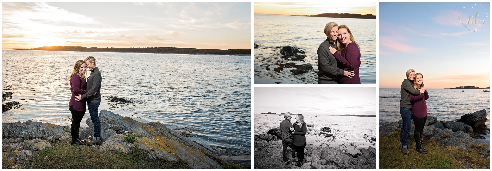 Lesbian Engagement Photography Session in Maine