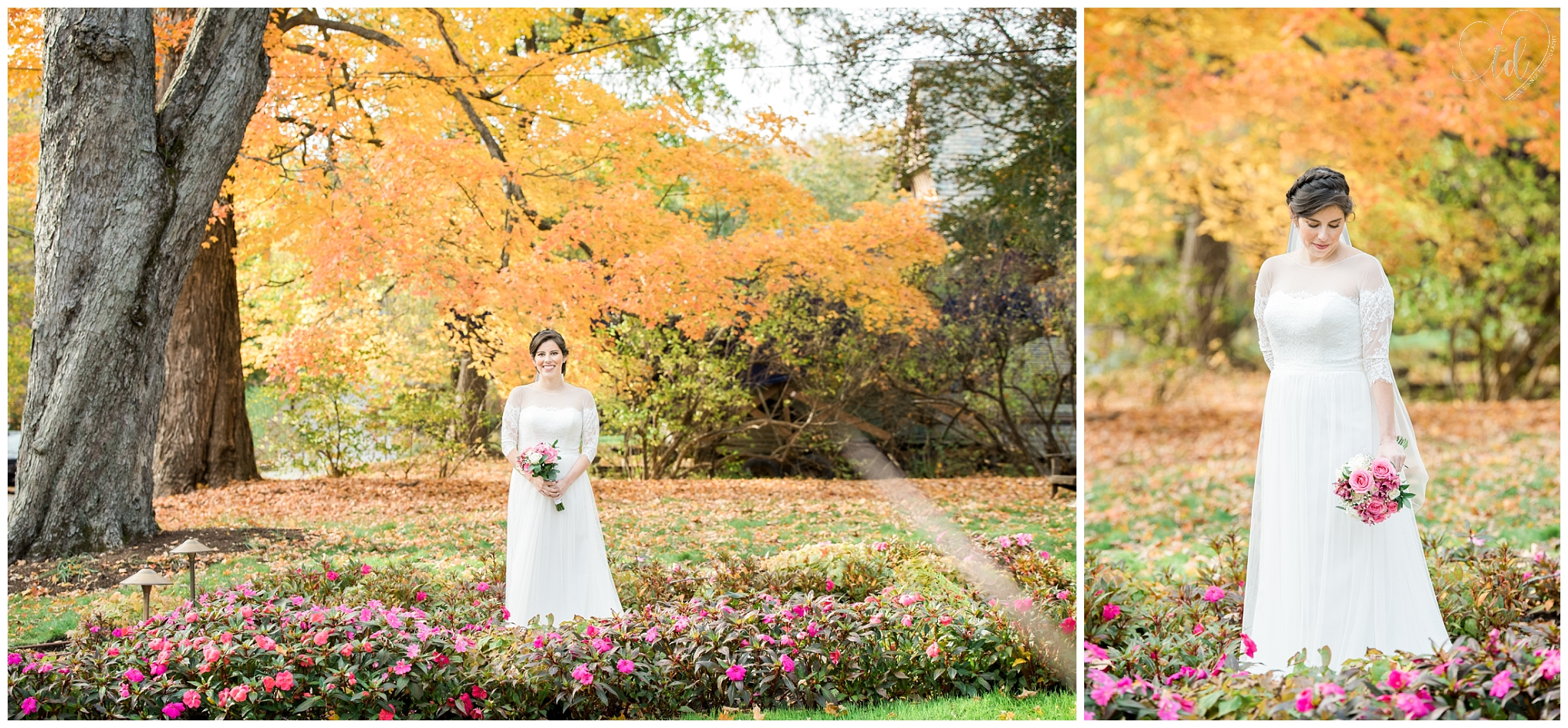 Fall Portrait Photography of a Maine Bride during her Rockland Elopement