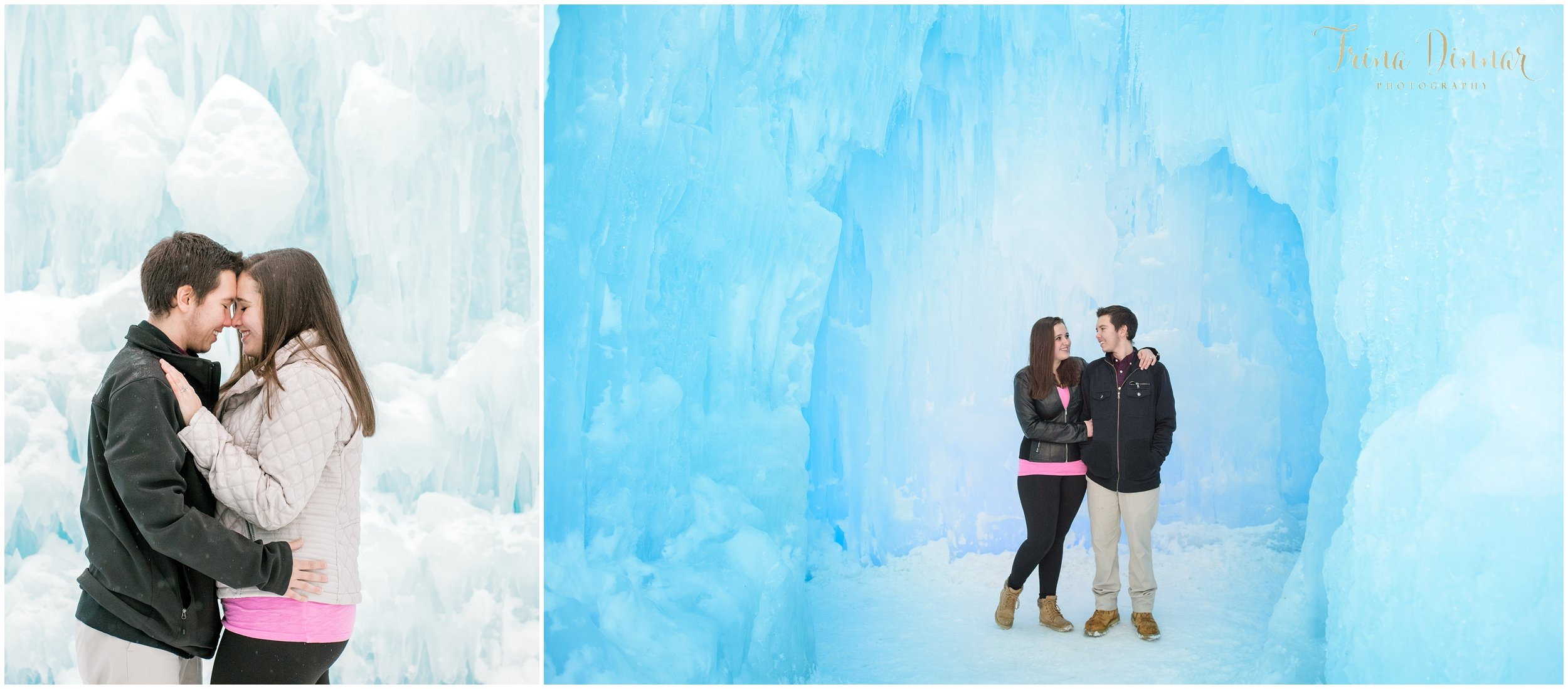 Kimberly and Eli's engagement session at the Ice Castles in Lincoln, NH