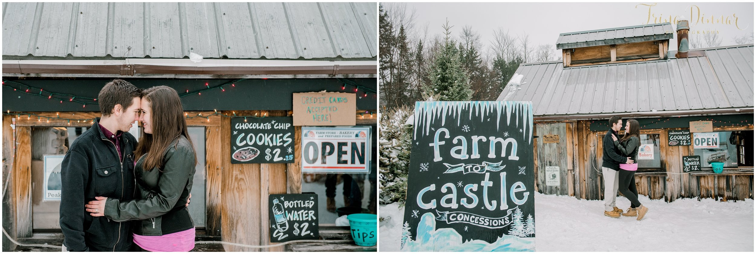 NH New England Winter Engagement Session Photography