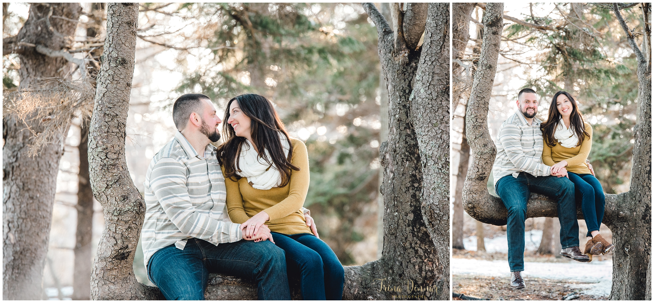 Maine Engagement Photographers capture couple at Two Lights State Park.