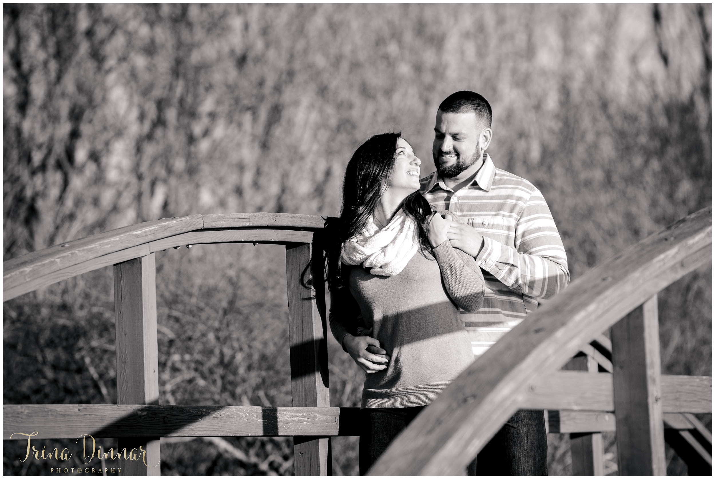 Lindsey and Chris Black and White Portrait