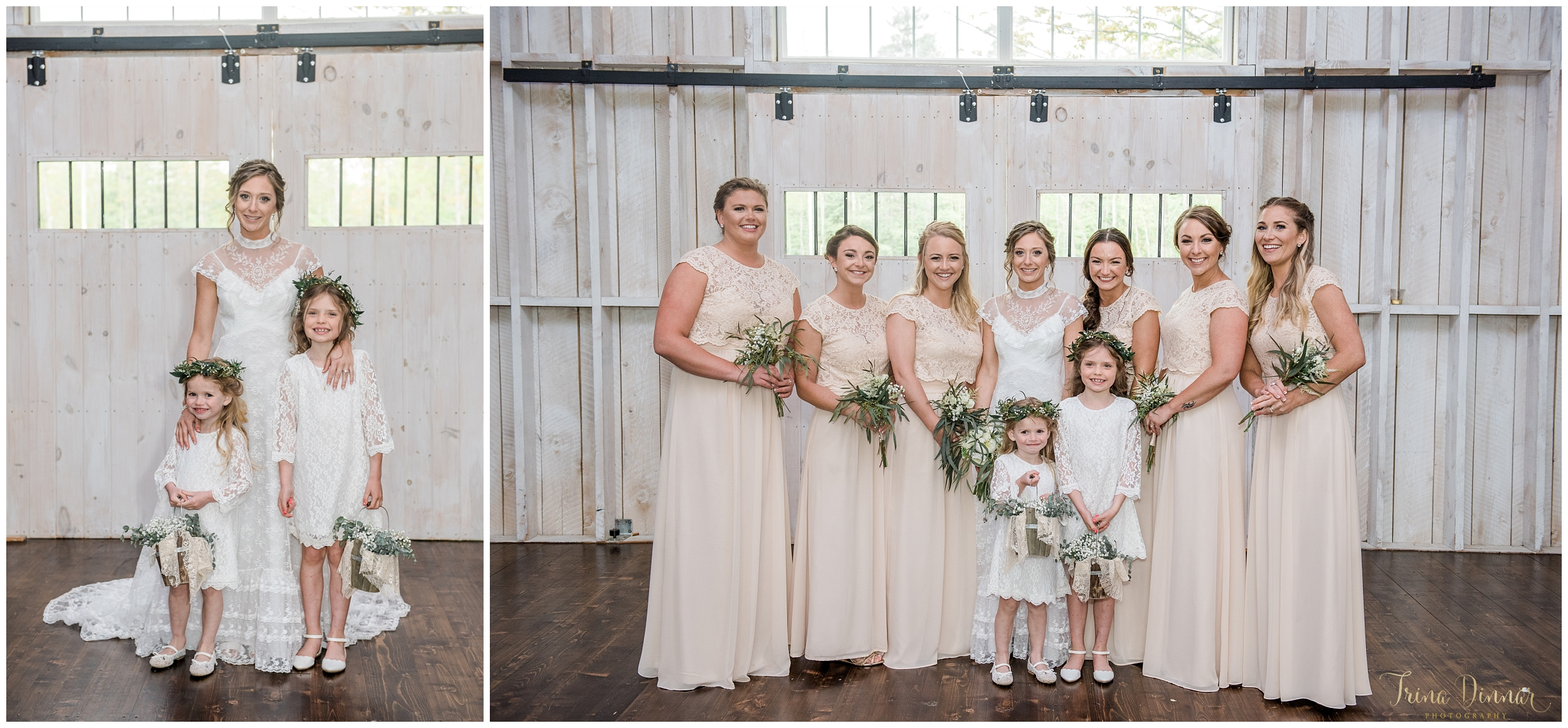 Maine Barn Wedding Formal Portraits