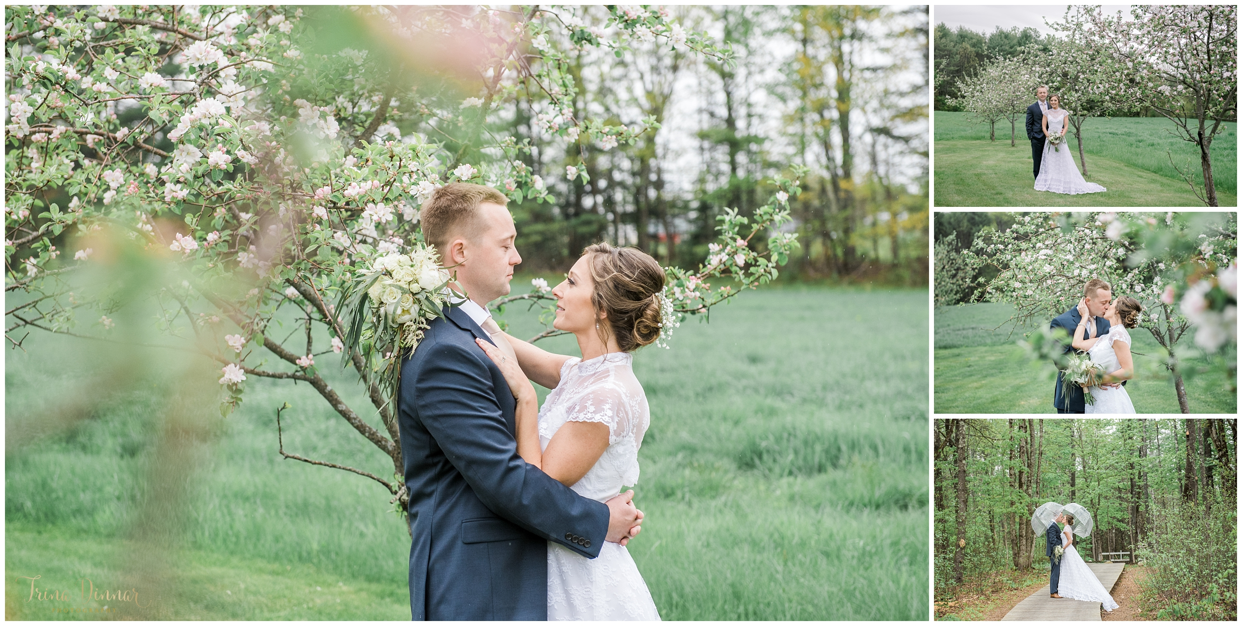 Maine Spring Wedding Photography by Trina Dinnar