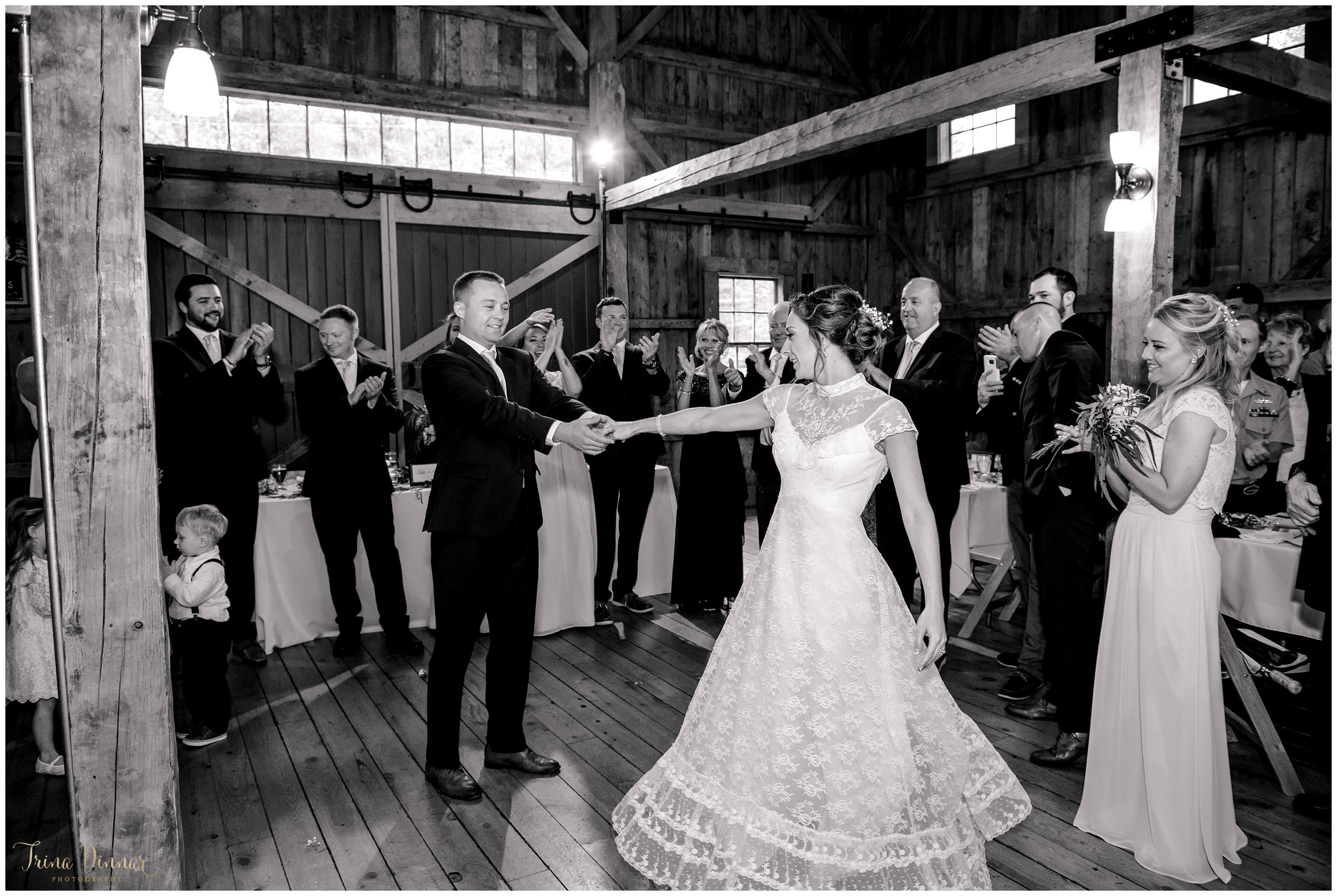 Wedding Reception at Barn at Flanagan Farm Buxton