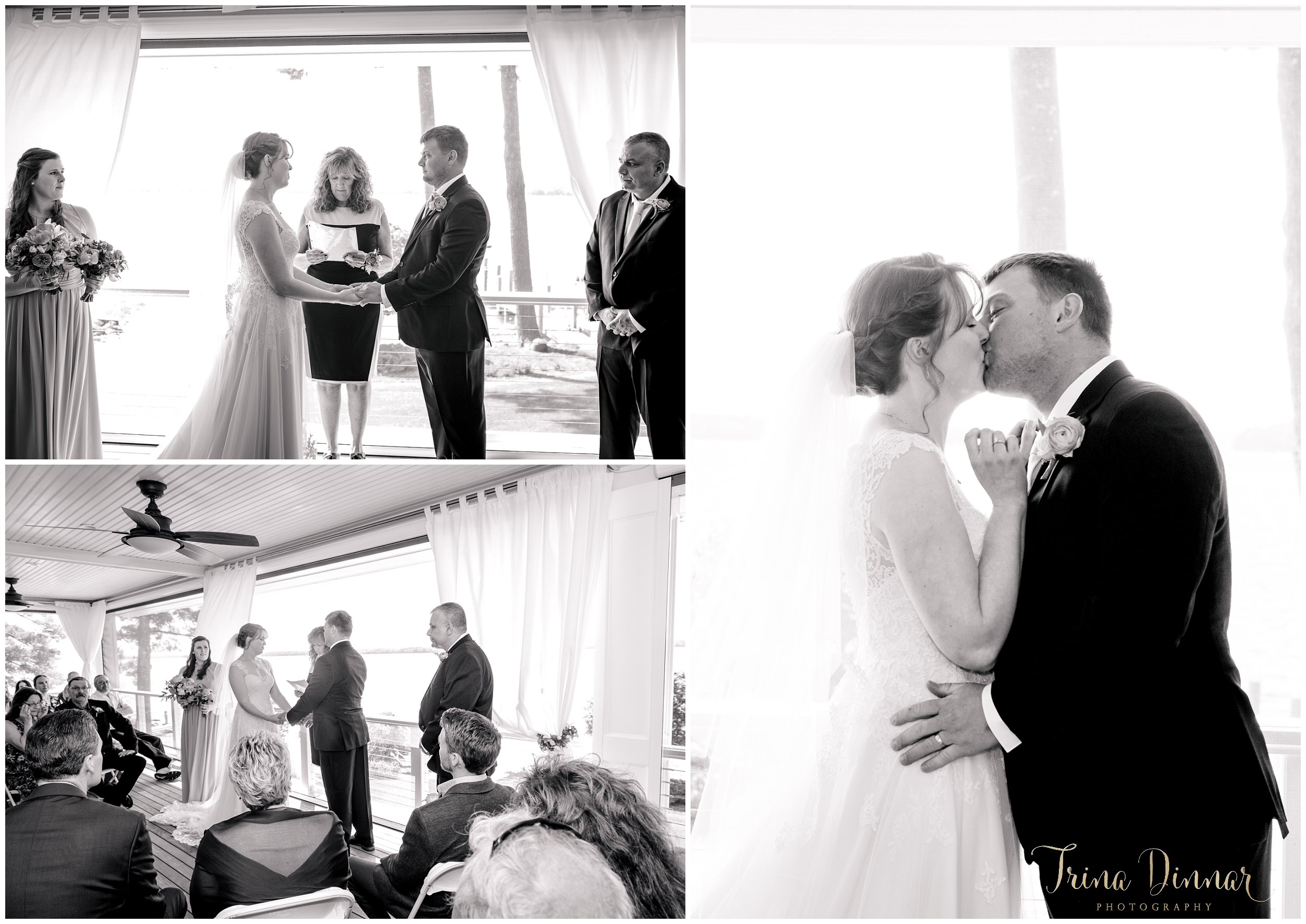 Private wedding ceremony in Standish ME