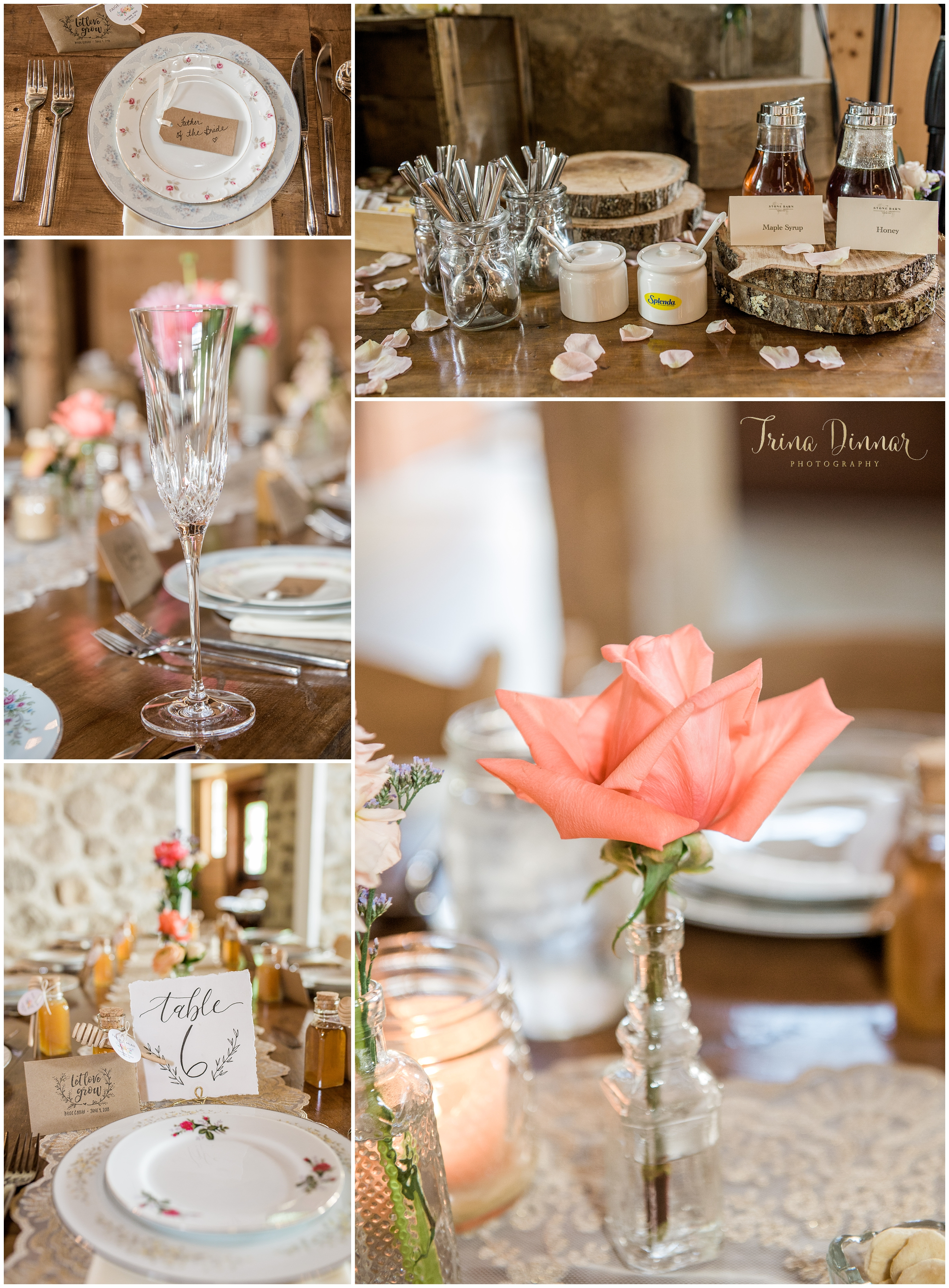 Maine wedding barn venue reception décor