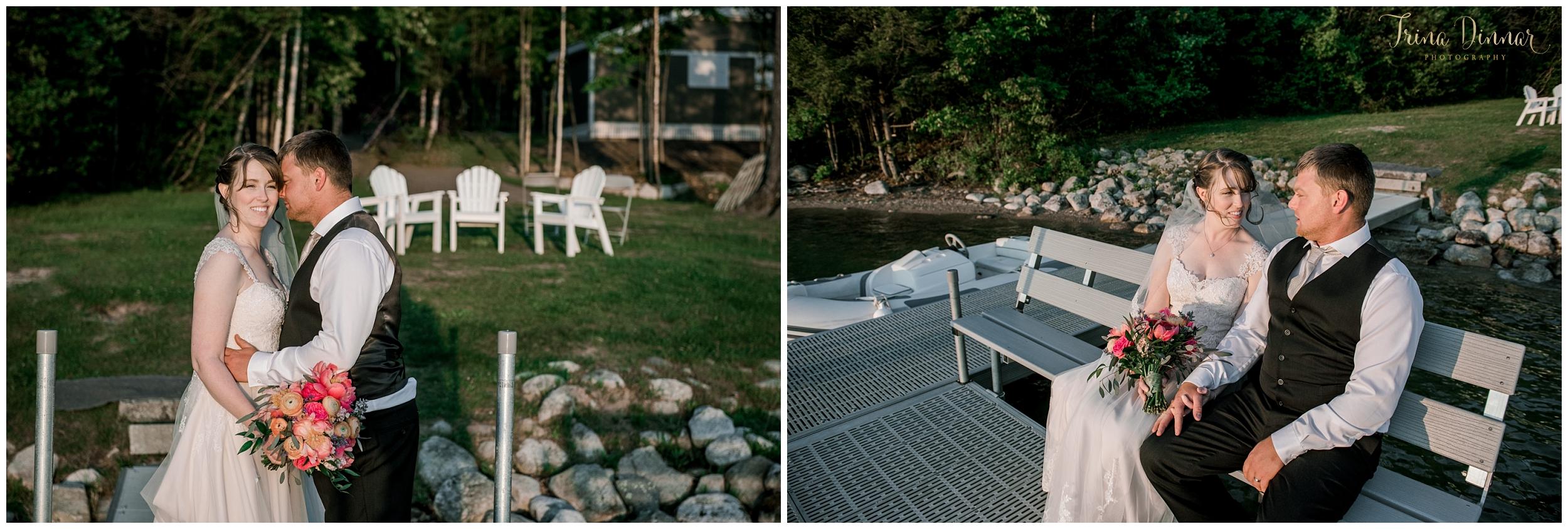 Maine Lakefront wedding at Sebago Lake Standish