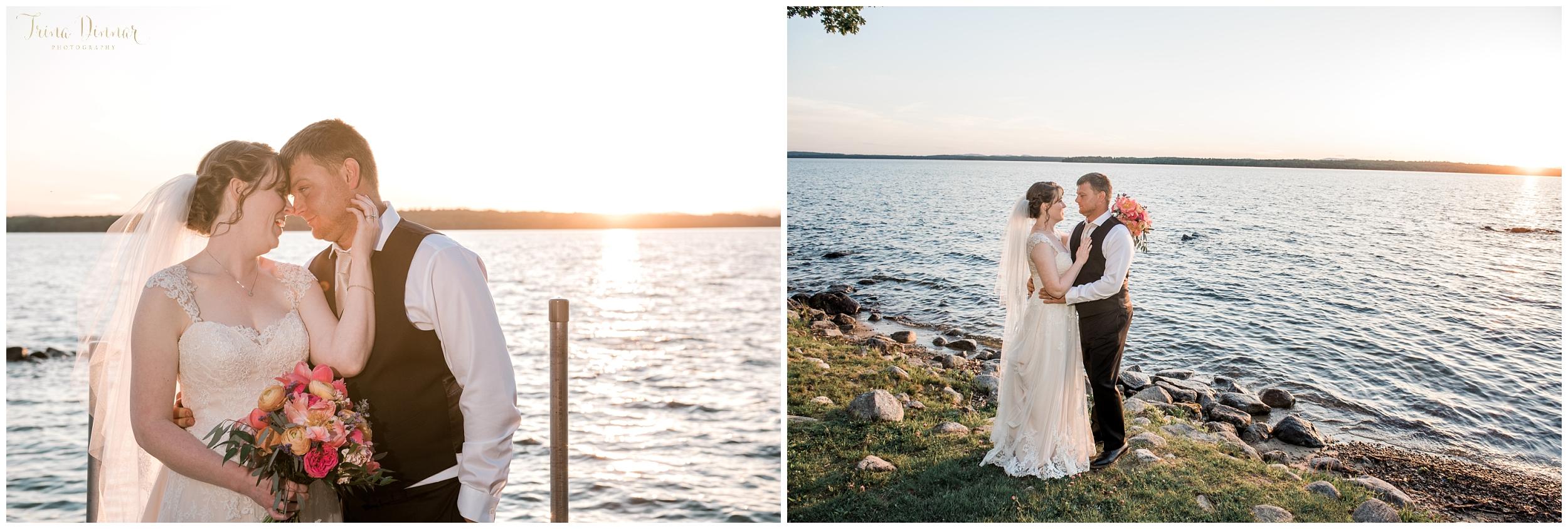 Maine Sebago Lakefront wedding photography by Trina Dinnar