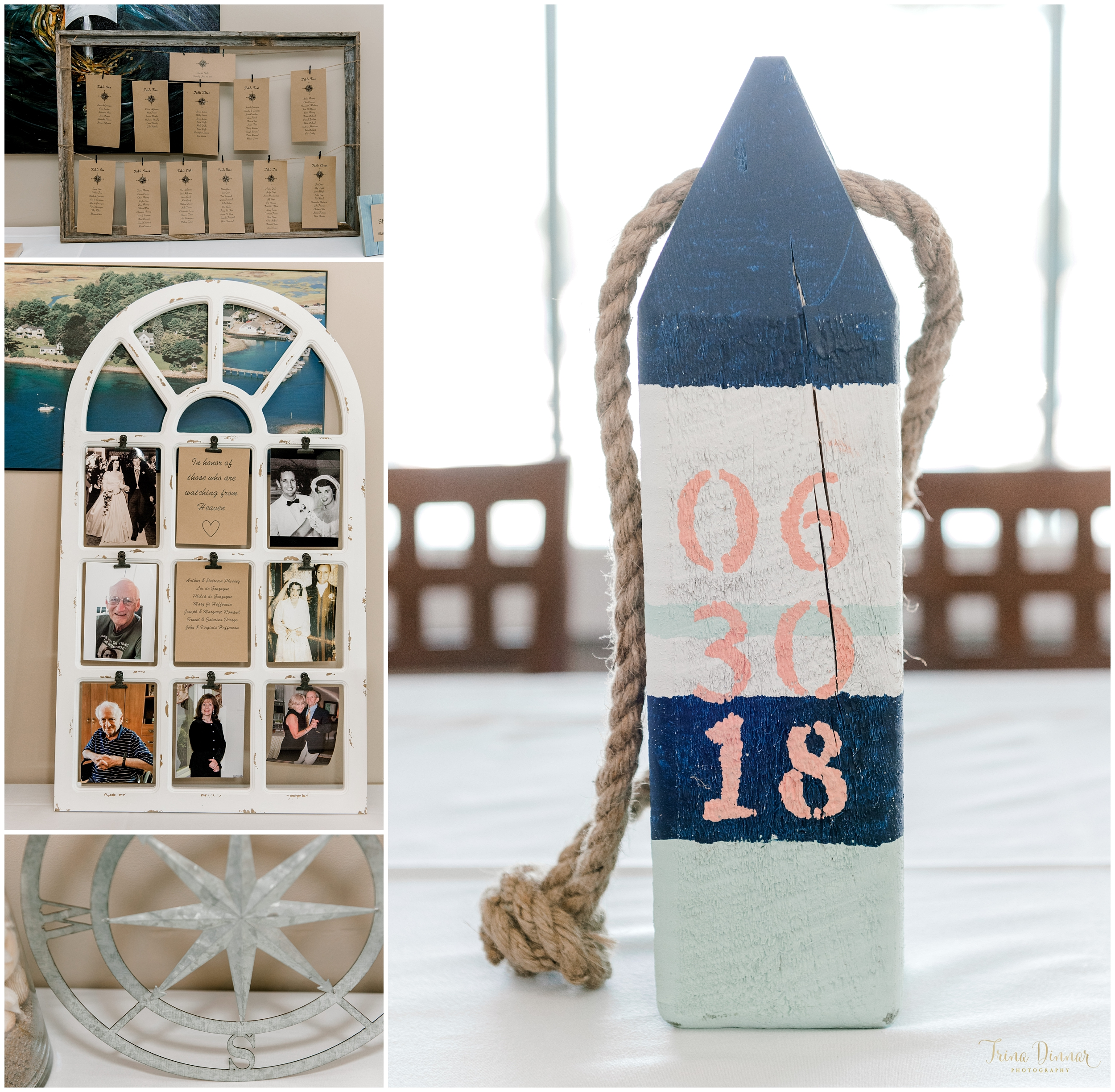 Maine Coastal Nautical Wedding Inspiration