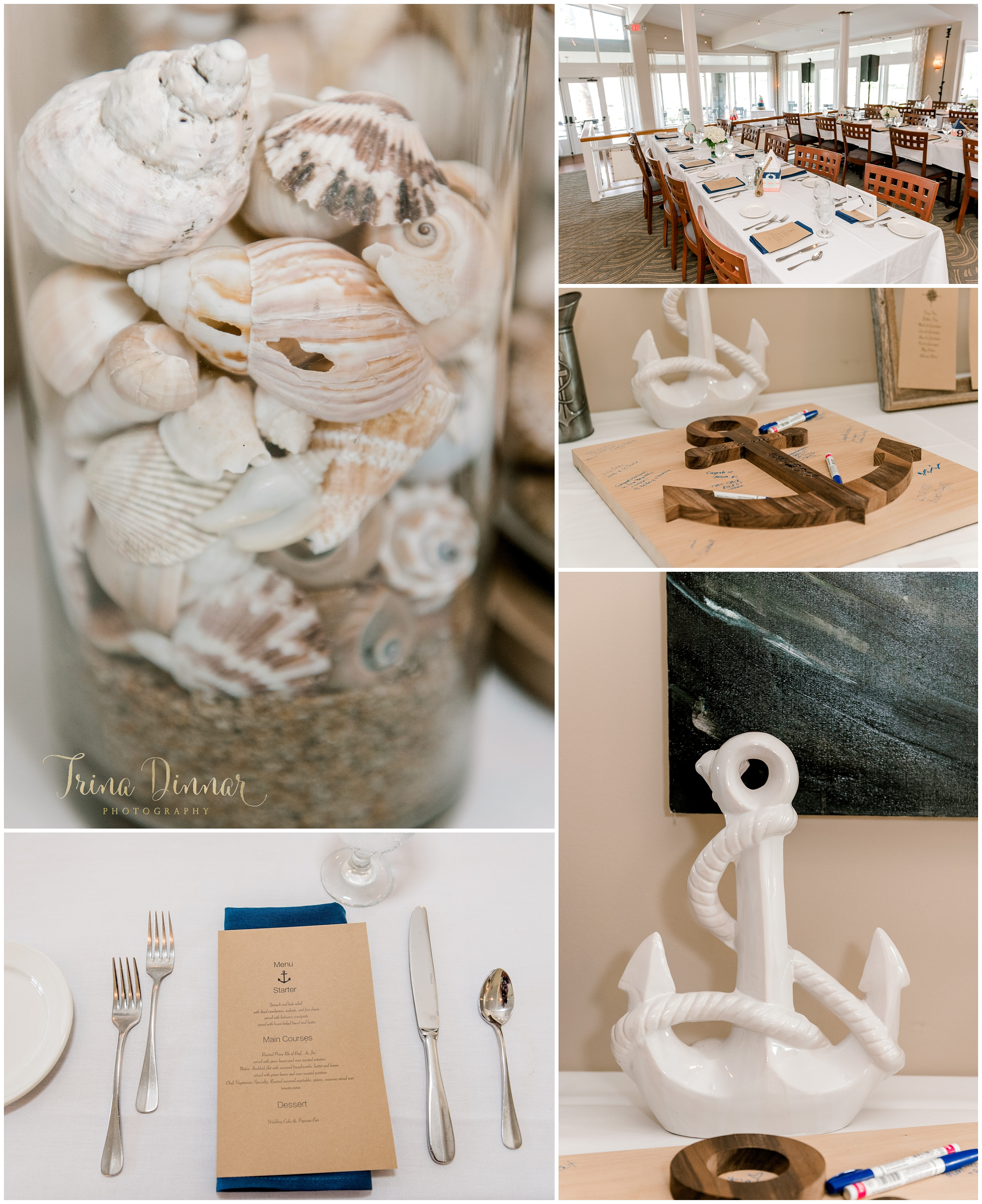 York Harbor Dockside Nautical Wedding Venue