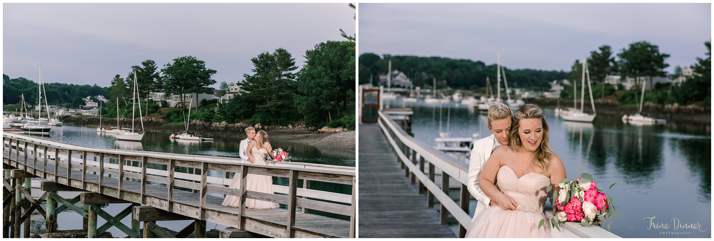 York Harbor Maine Dockside Restaurant Wedding