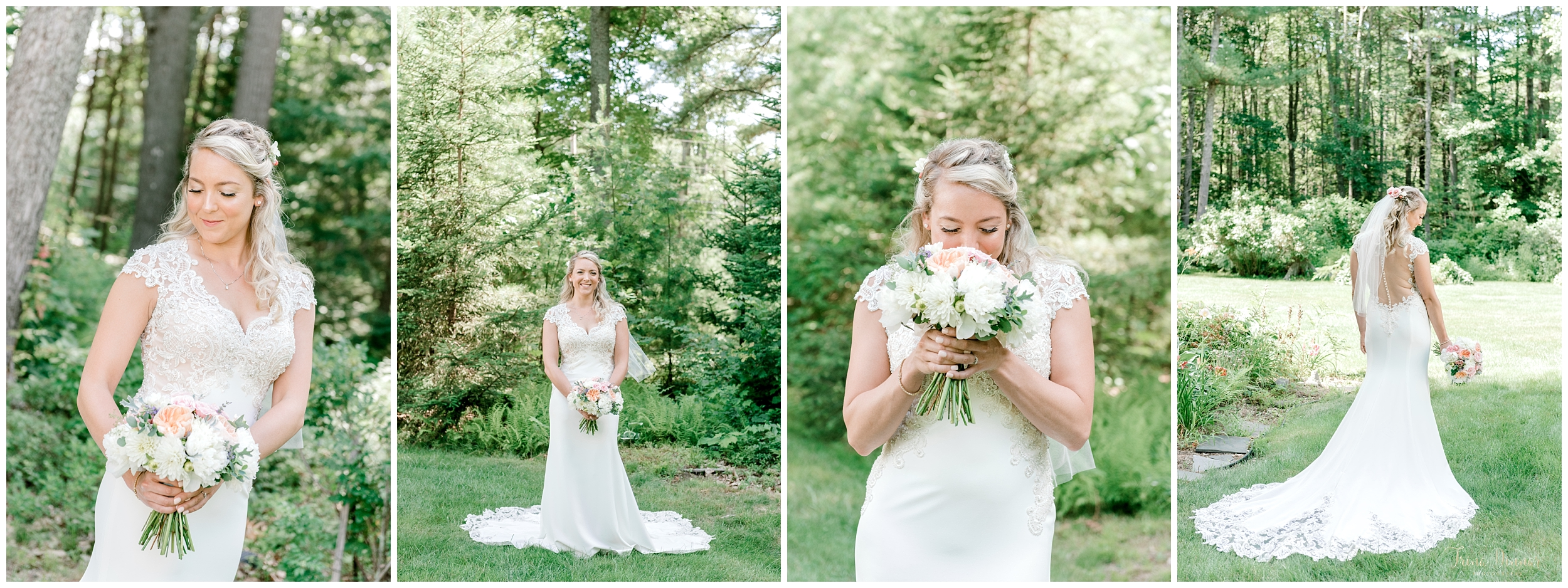 Maine Wedding Bride Portrait Photography in Scarborough