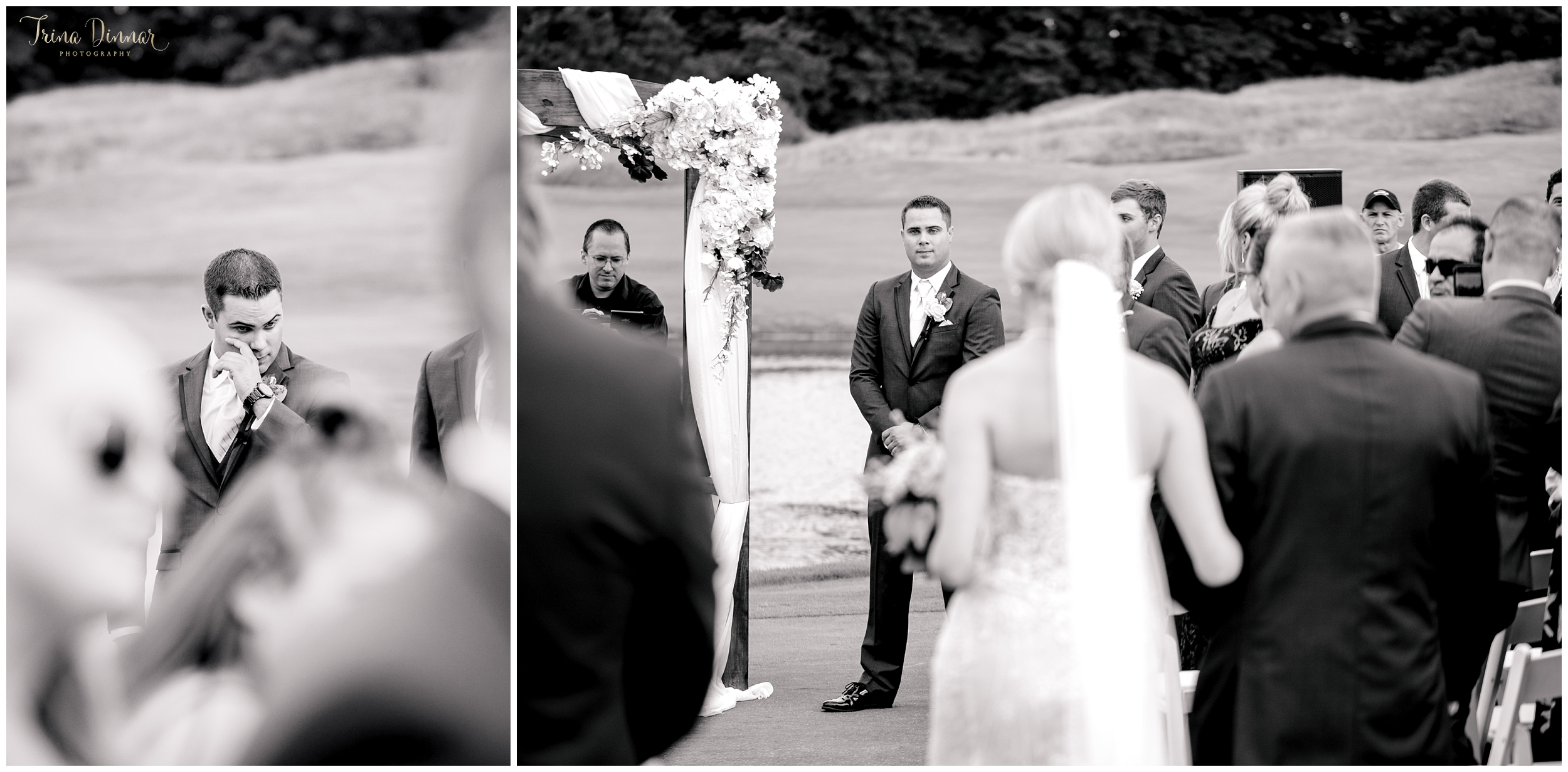 Groom tears up seeing bride walk down aisle