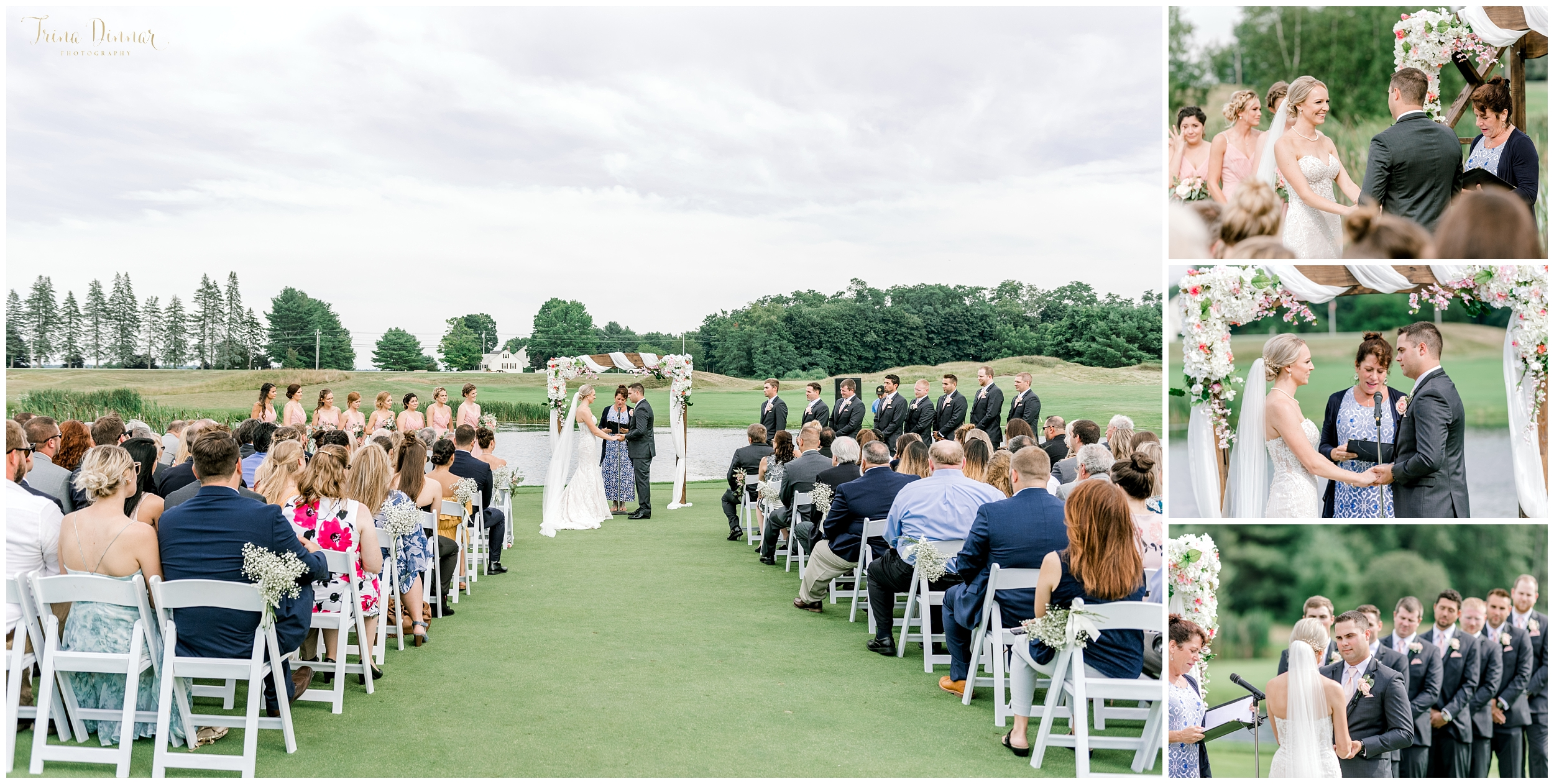 Falmouth Country Club Wedding Ceremony Photos