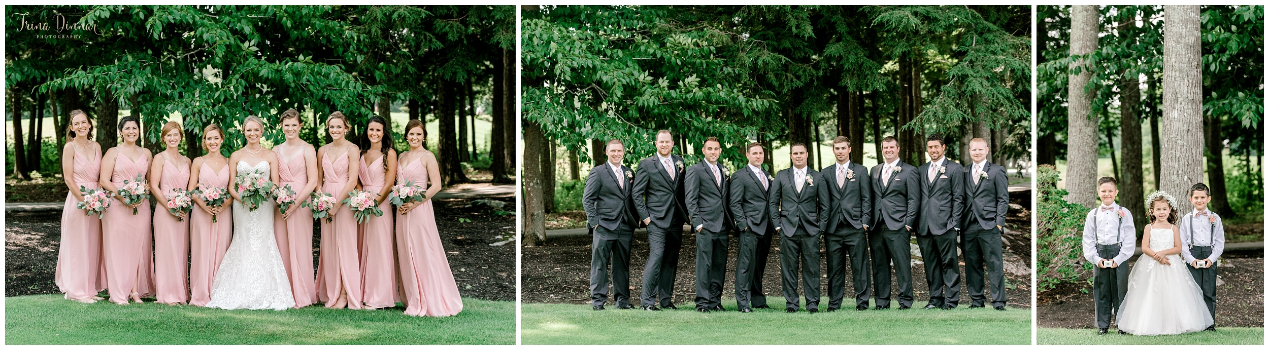 Ashton and John's wedding party portraits